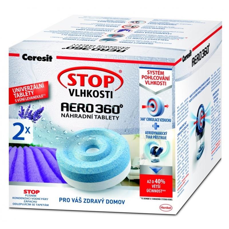 Ceresit STOP VLHKOSTI AERO 360° náhradní tablety 3v1 relaxační levandule (2x450g)