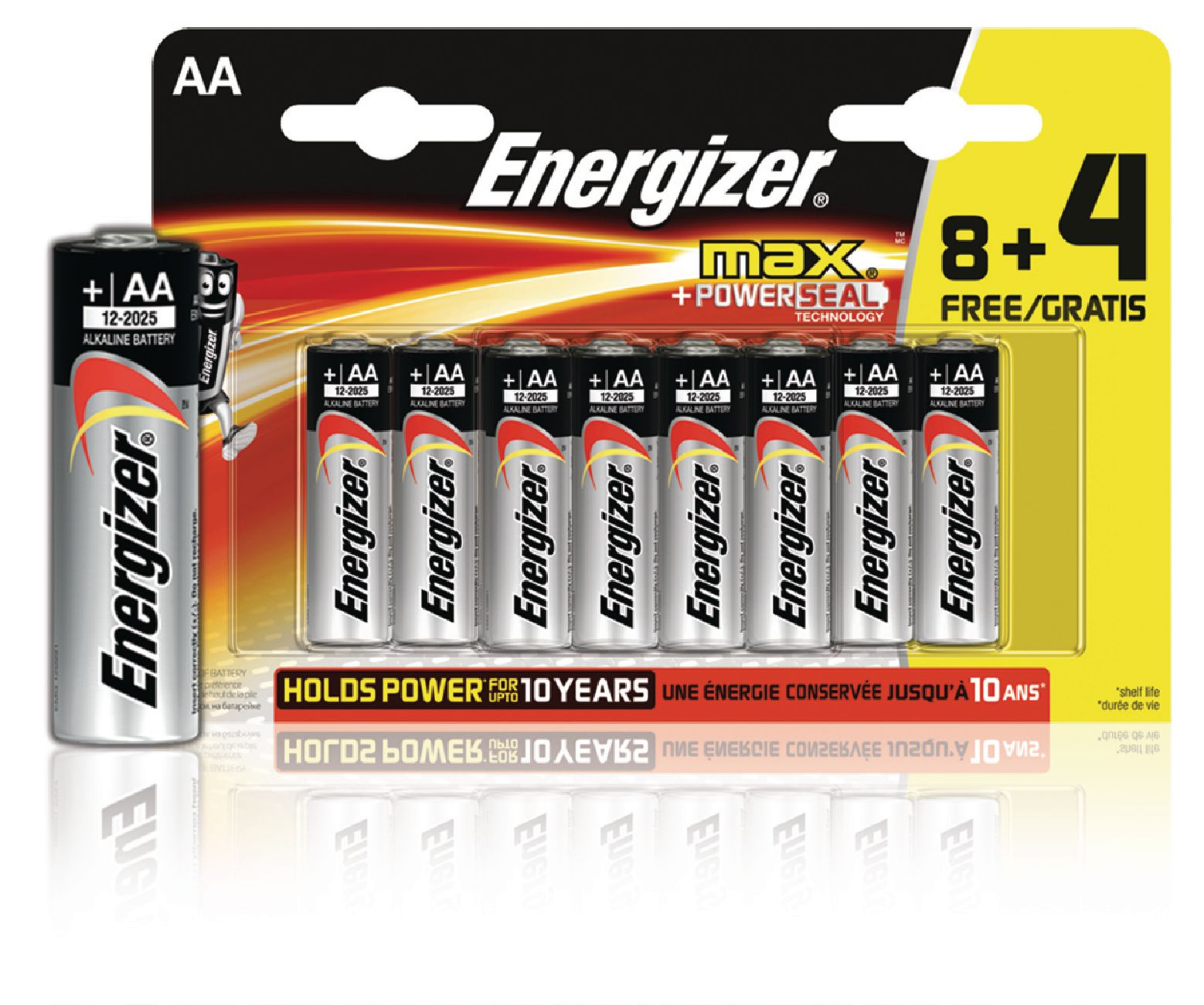 Alkalická baterie Energizer Max AA 1.5V, 12ks, EN-E300115600