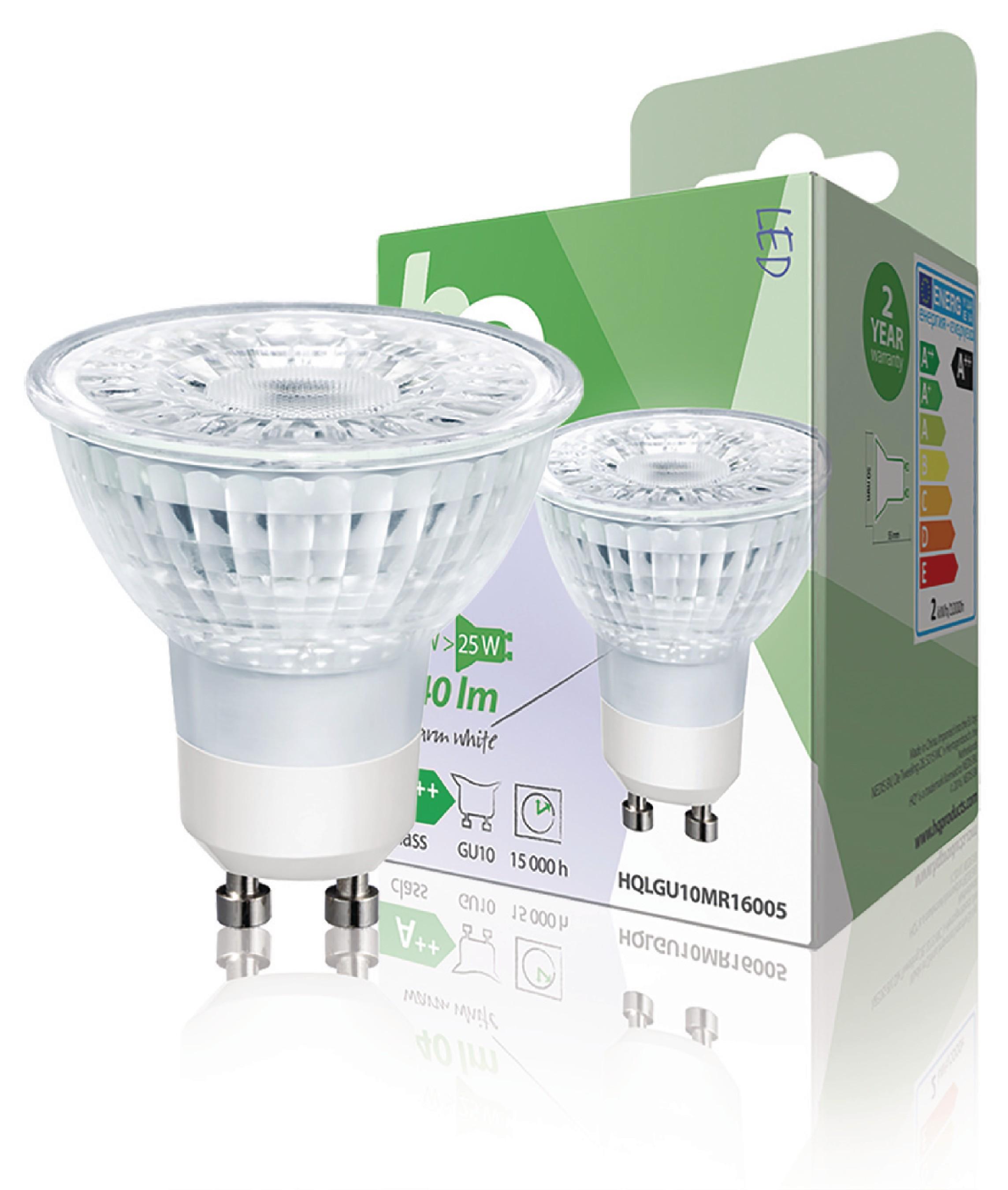 HQ LED žárovka MR16 GU10 2.3W 140lm 2700K (HQLGU10MR16005)