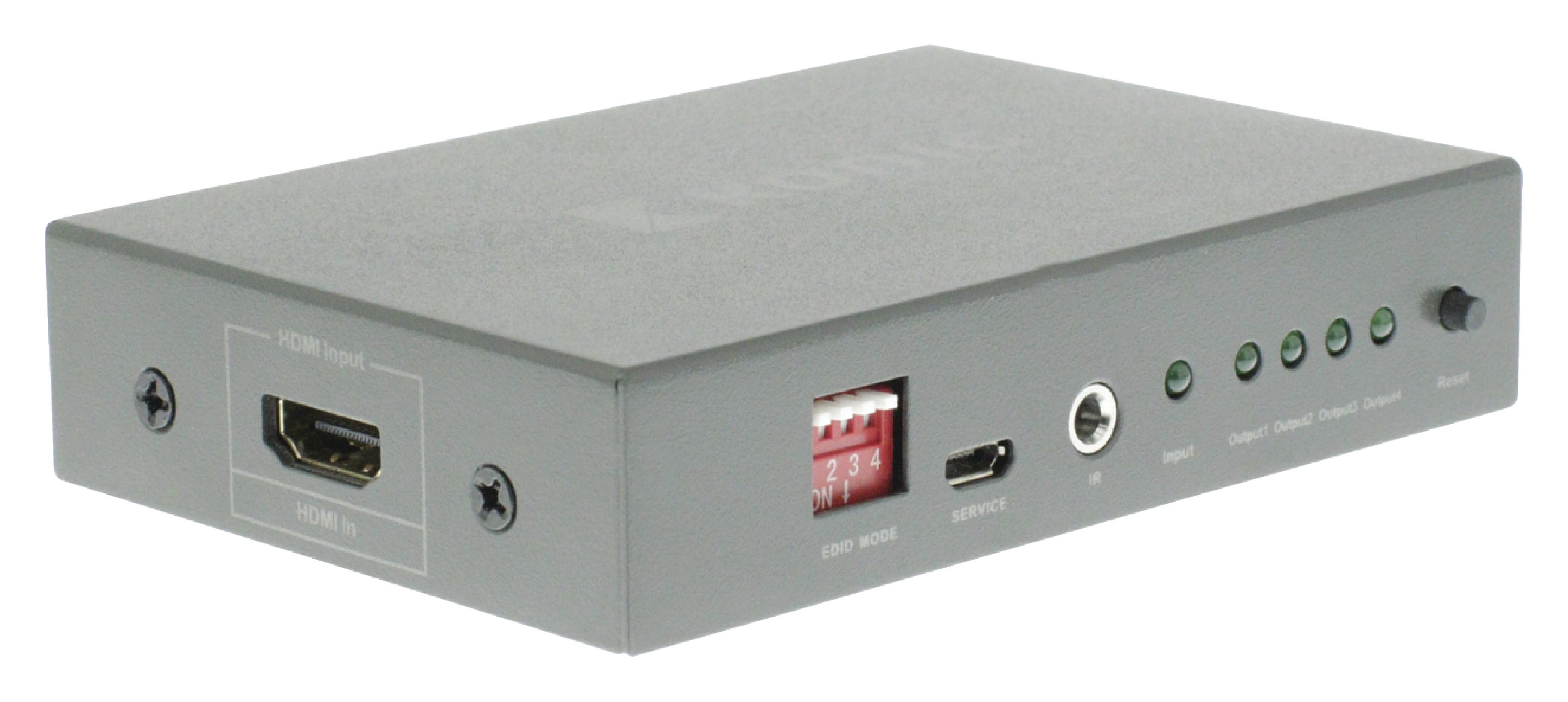 HDMI 4K2K rozbočovač 1 vstup na 4 výstupy König KNVSP3404