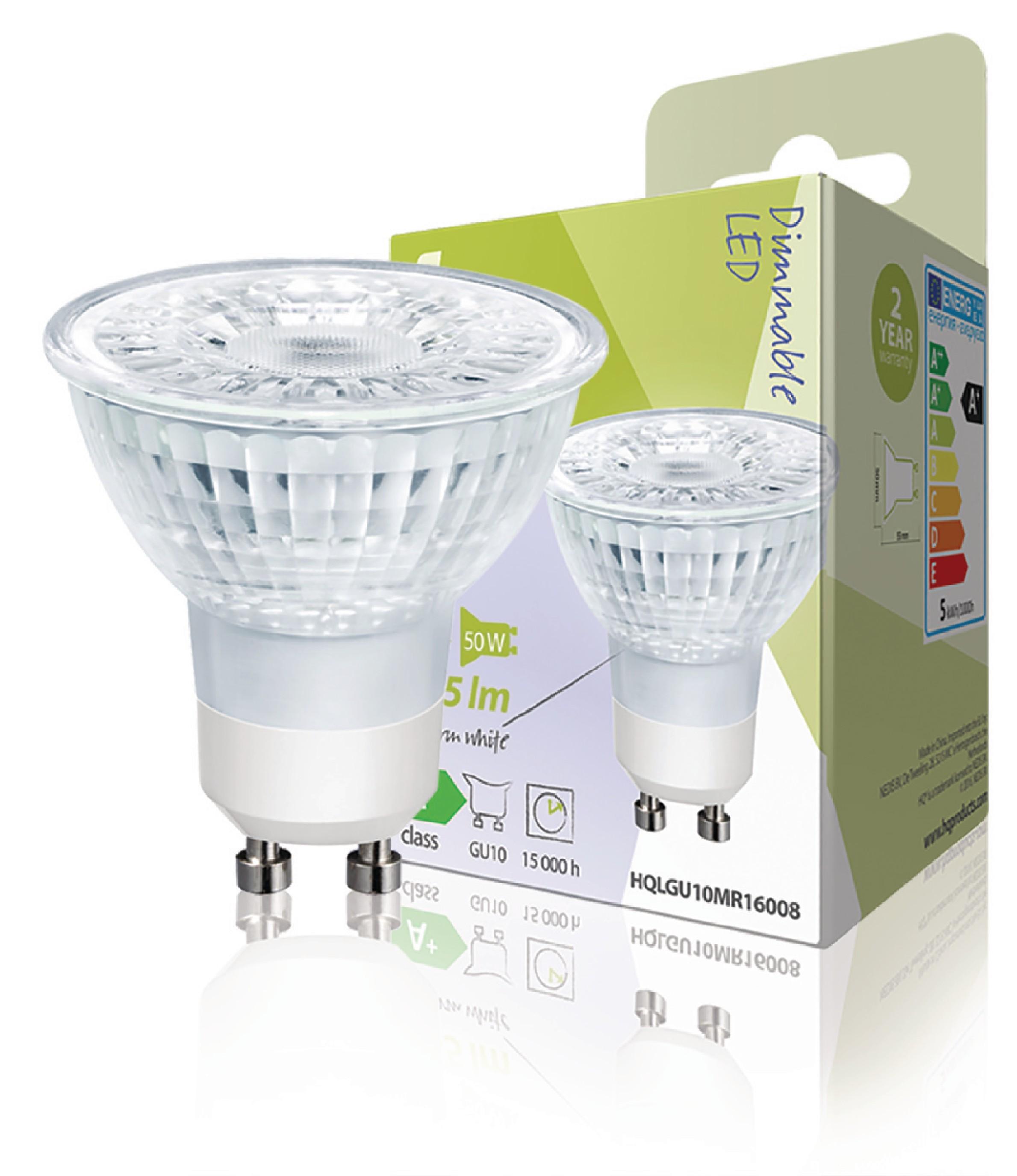 HQ LED žárovka PAR16 GU10 5W 345lm 2700K (HQLGU10MR16007)