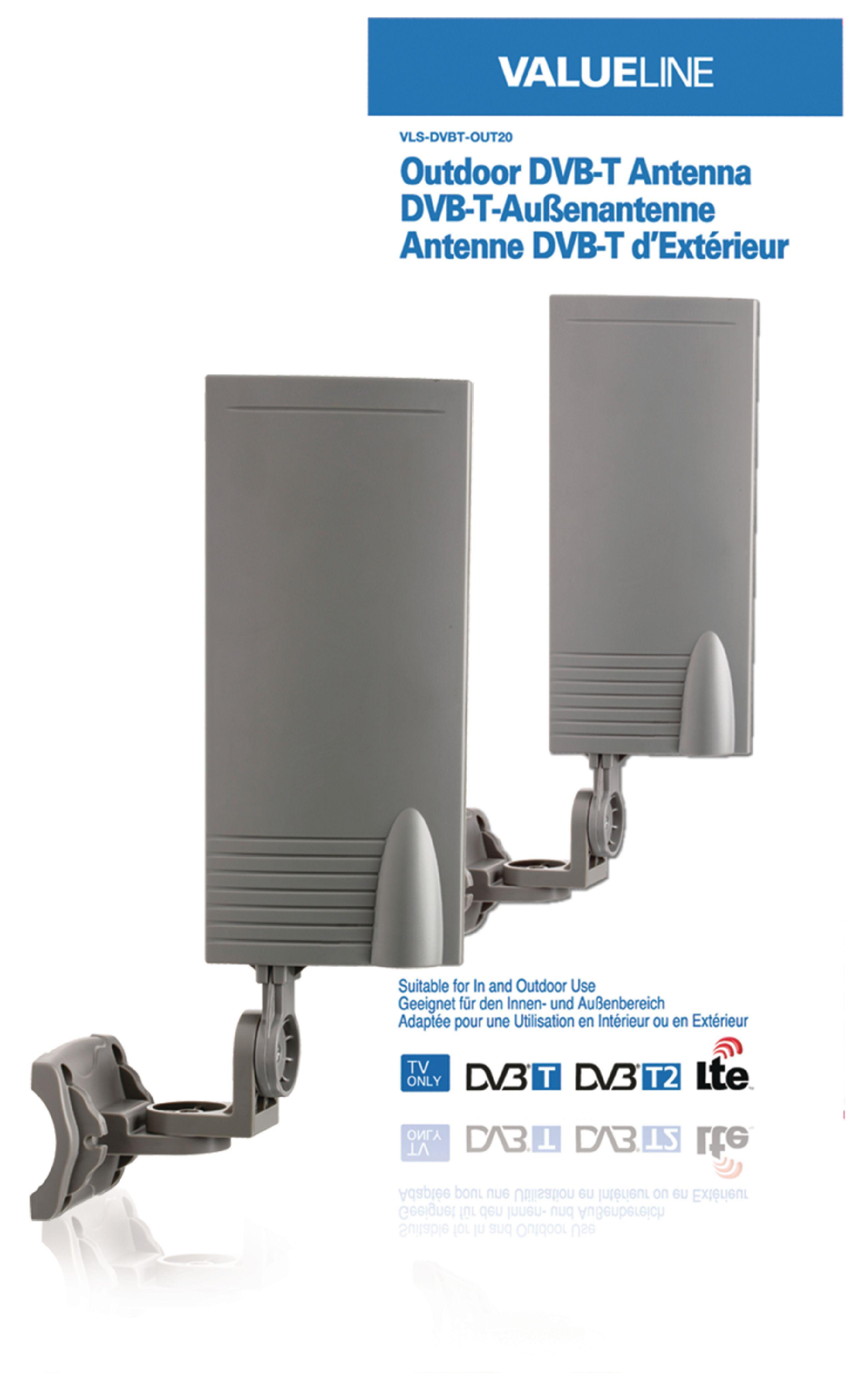 Venkovní anténa DVB-T/T2 15 dB VHF/UHF Valueline VLS-DVBT-OUT20