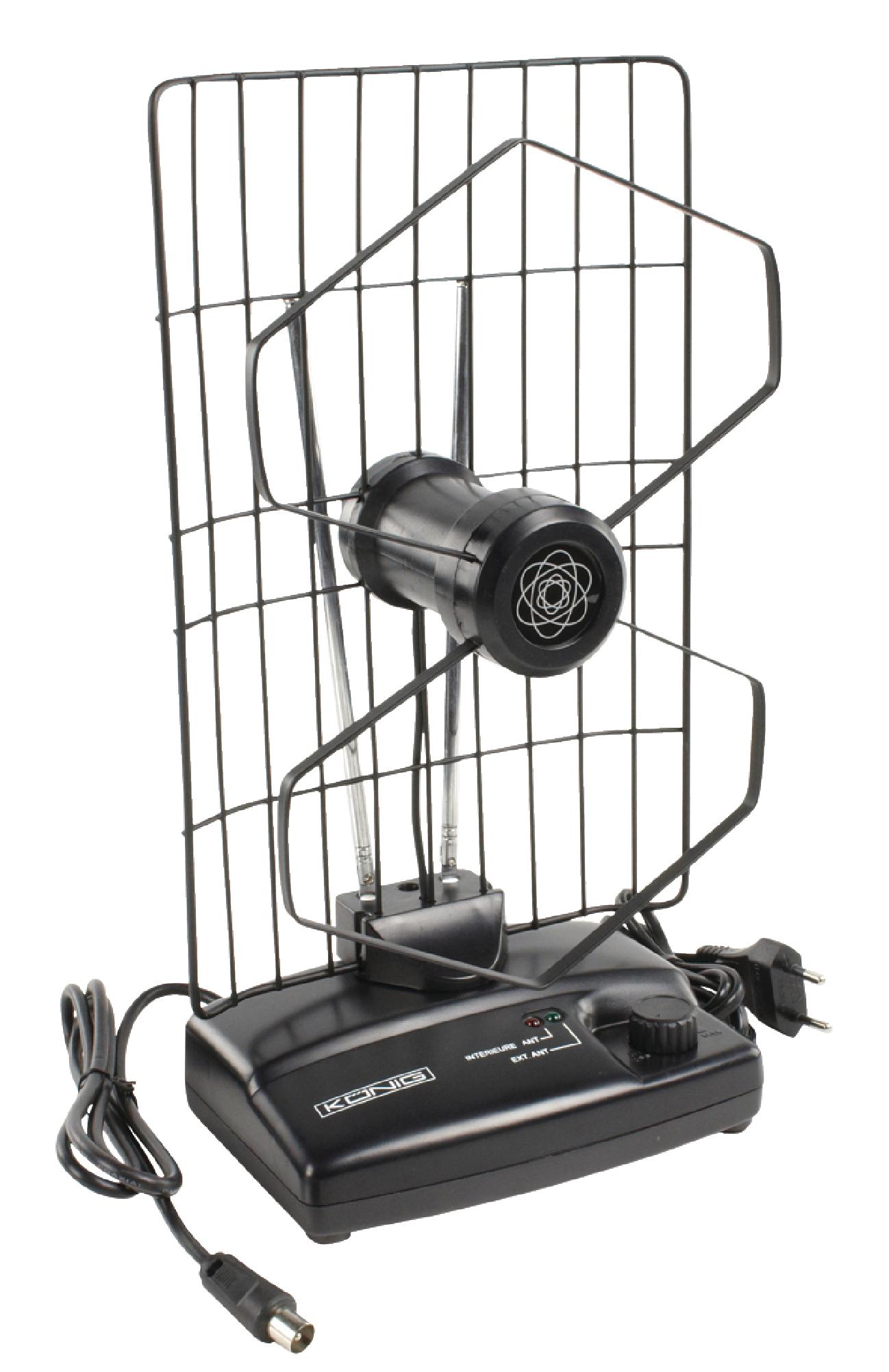 Anténa pokojová se zesilovačem VHF/UHF/FM 27 dB ANT 102-KN