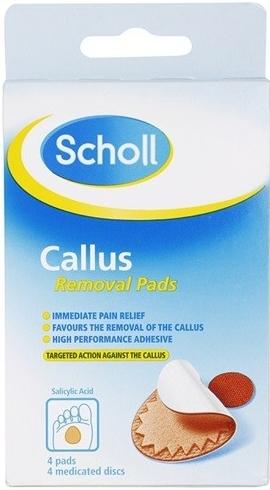 SCHOLL 10033066 Polštářky na odstranění tvrdé kůže, 4+4 ks