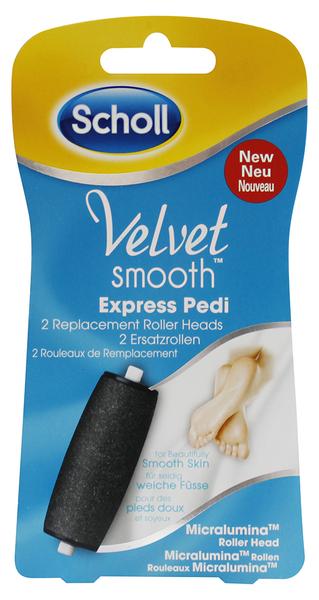 SCHOLL Velvet Smooth náhradní hlavice do el. pilníku (2x středně hrubé)