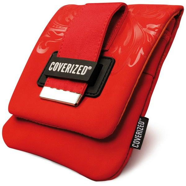Coverized DECO brašna na GPS / digitální fotoaparáty, červená