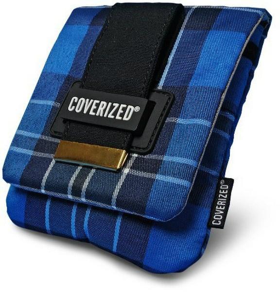 Coverized JACK brašna na GPS / digitální fotoaparát, modrý tartan