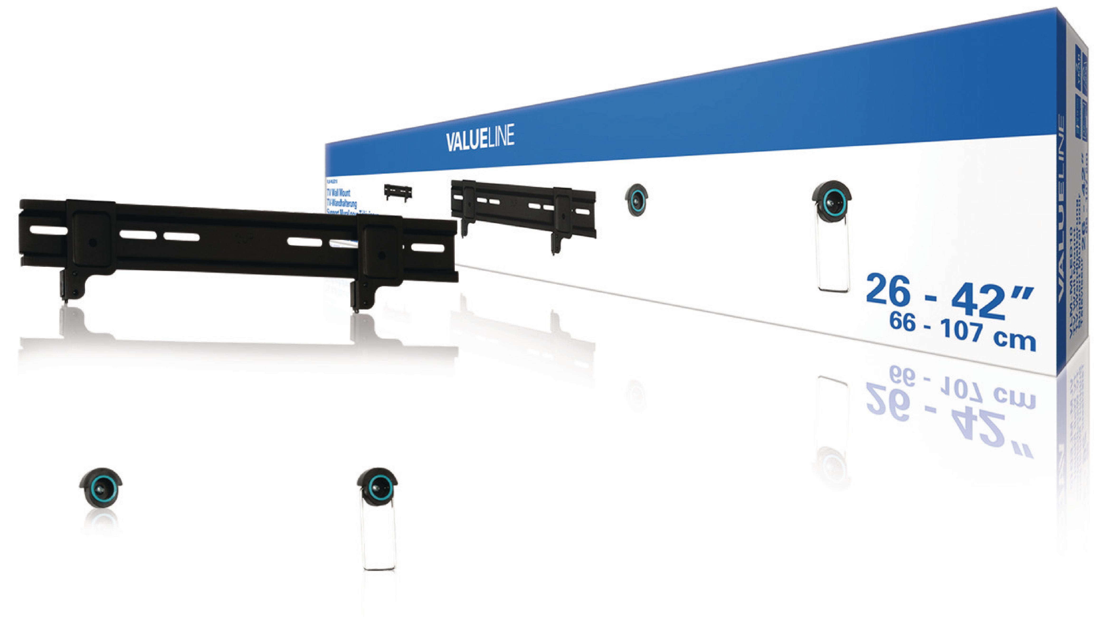 """Nástěnný TV držák fixní 26 - 42"""" 30 kg Valueline VLM-MLED10"""