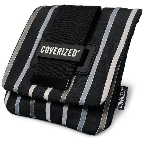 Coverized TAILOR brašna na GPS / digitální fotoaparát, černá, široké pruhy