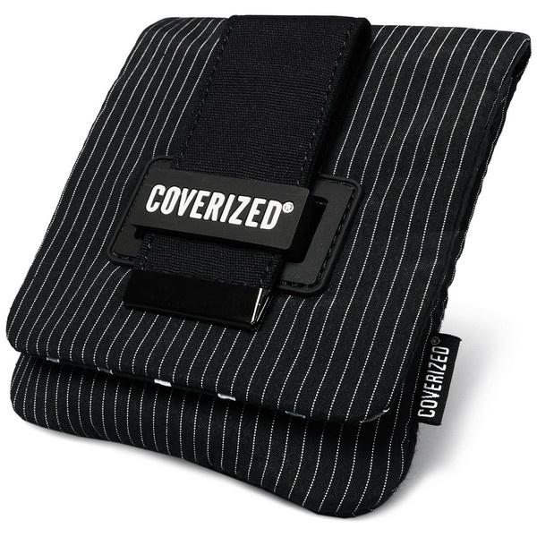 Coverized TAILOR brašna na GPS / digitální fotoaparát, černá, tenké pruhy