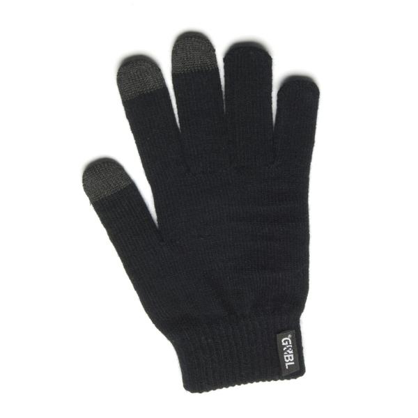 Rukavice iTECH s elektrovodivými konečky 3569-3P (3 prsty) velikost M černé
