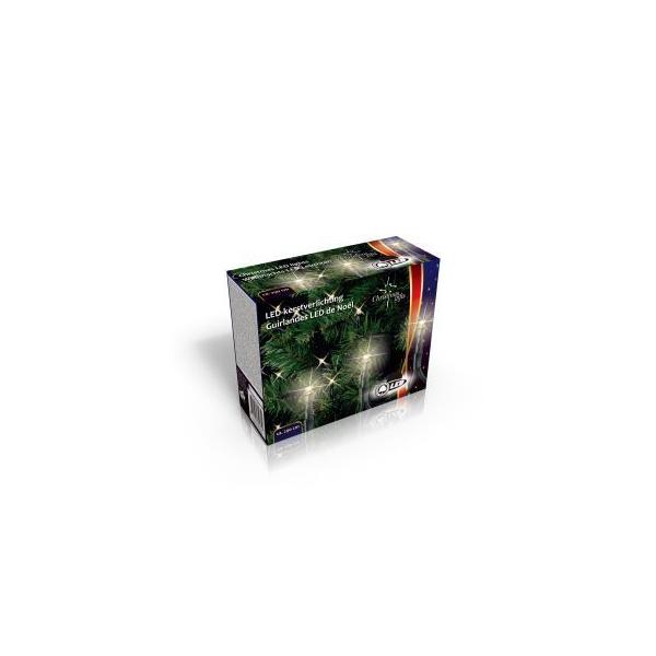 Vánoční vnitřní i venkovní světelný řetěz 40x LED dioda teplá bílá, 230V, délka 8.2 m