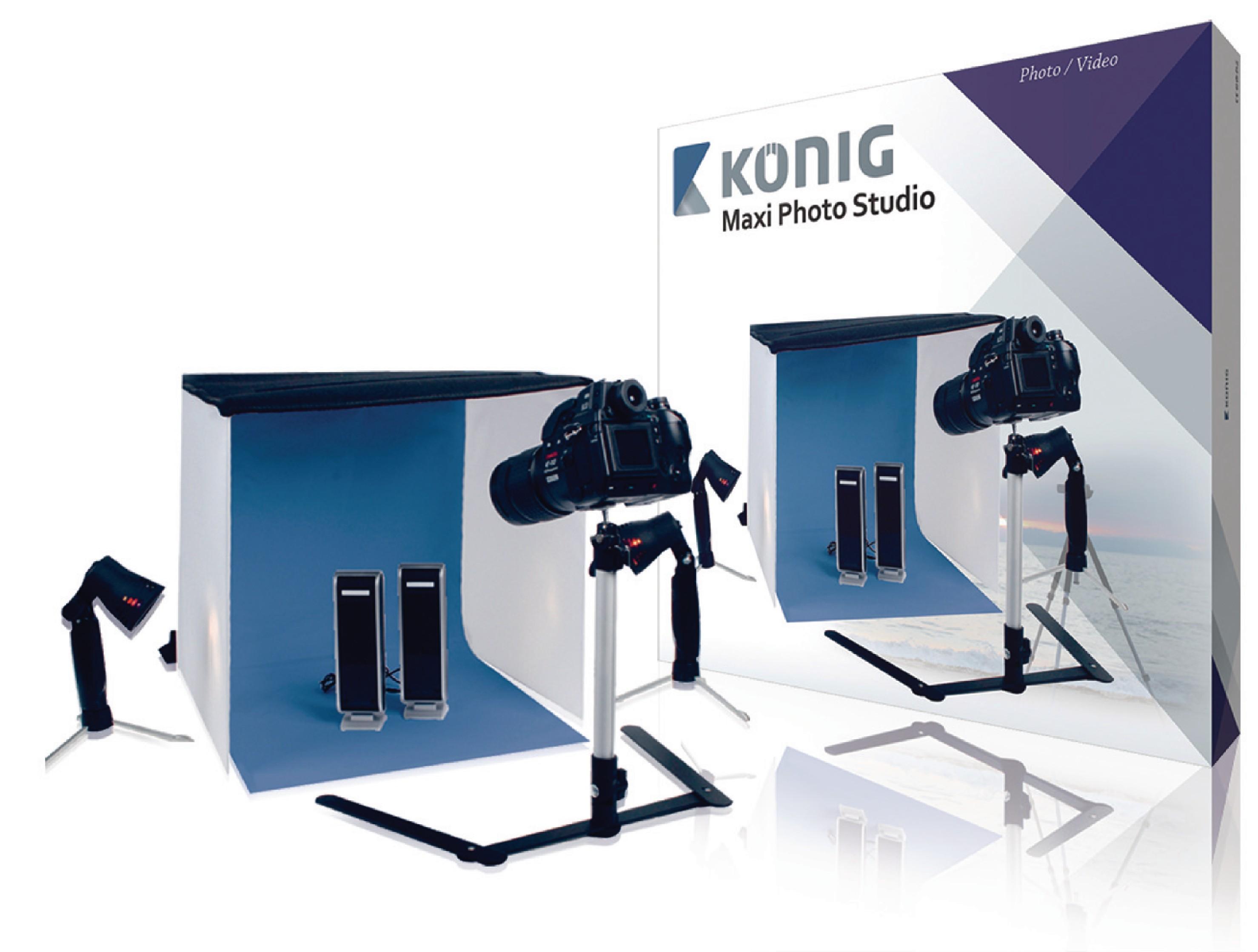 Skládací foto studio König 60 x 60 x 60 cm KN-STUDIO12N