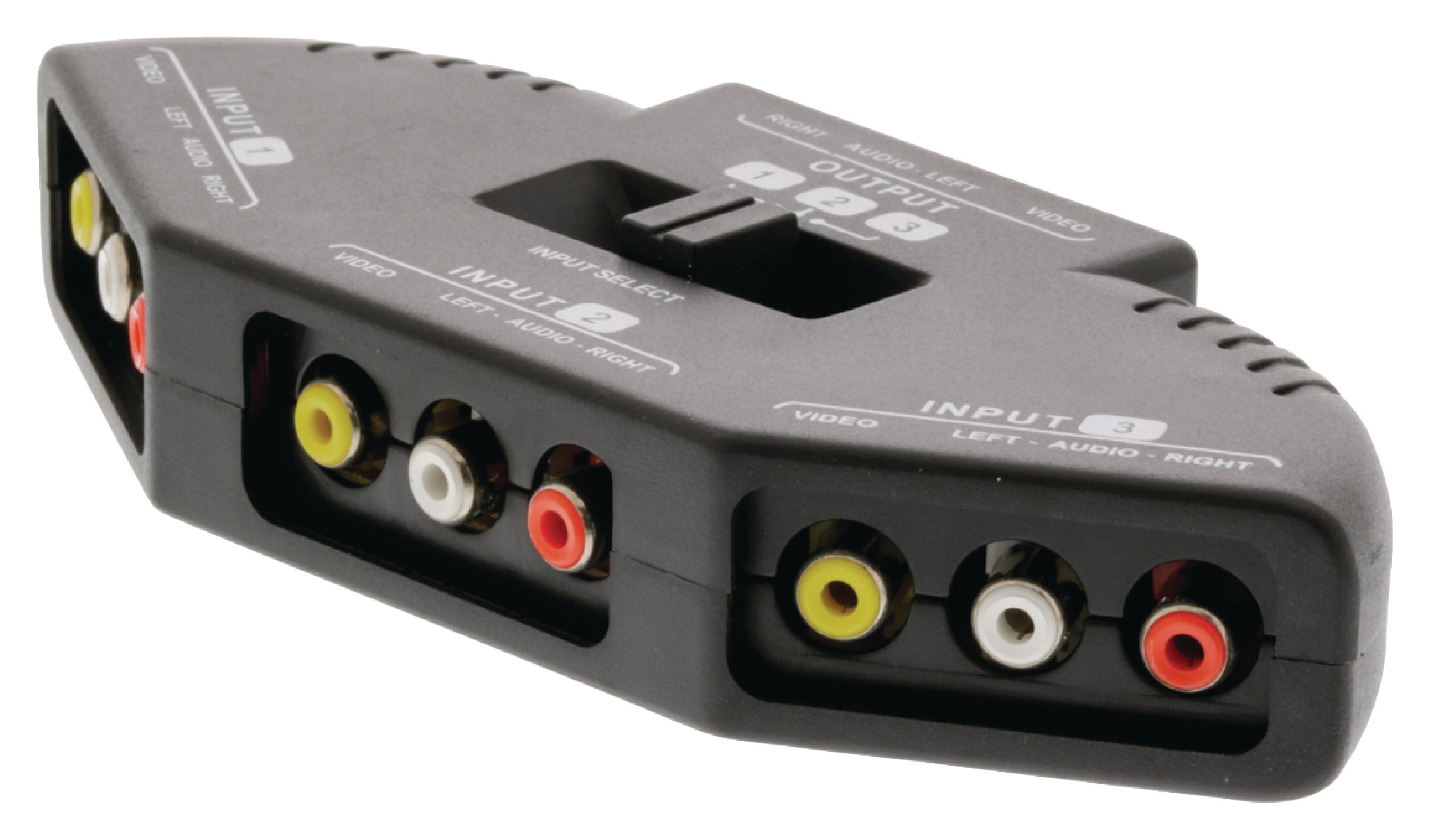 Valueline přepínač 3x AV vstup - 1x AV výstup VLVSW2403