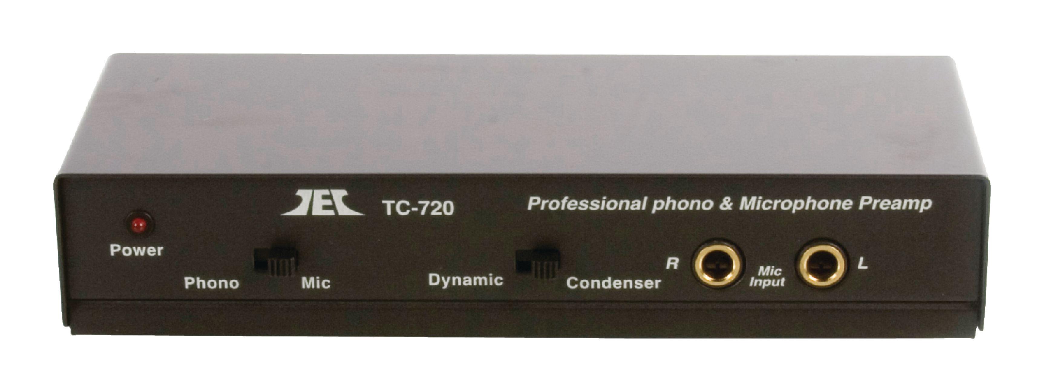 Profi předzesilovač pro gramofon a mikrofon, TC720 Profi předzesilovač MM pro gramofon, TC750 PRE AMP-PRO