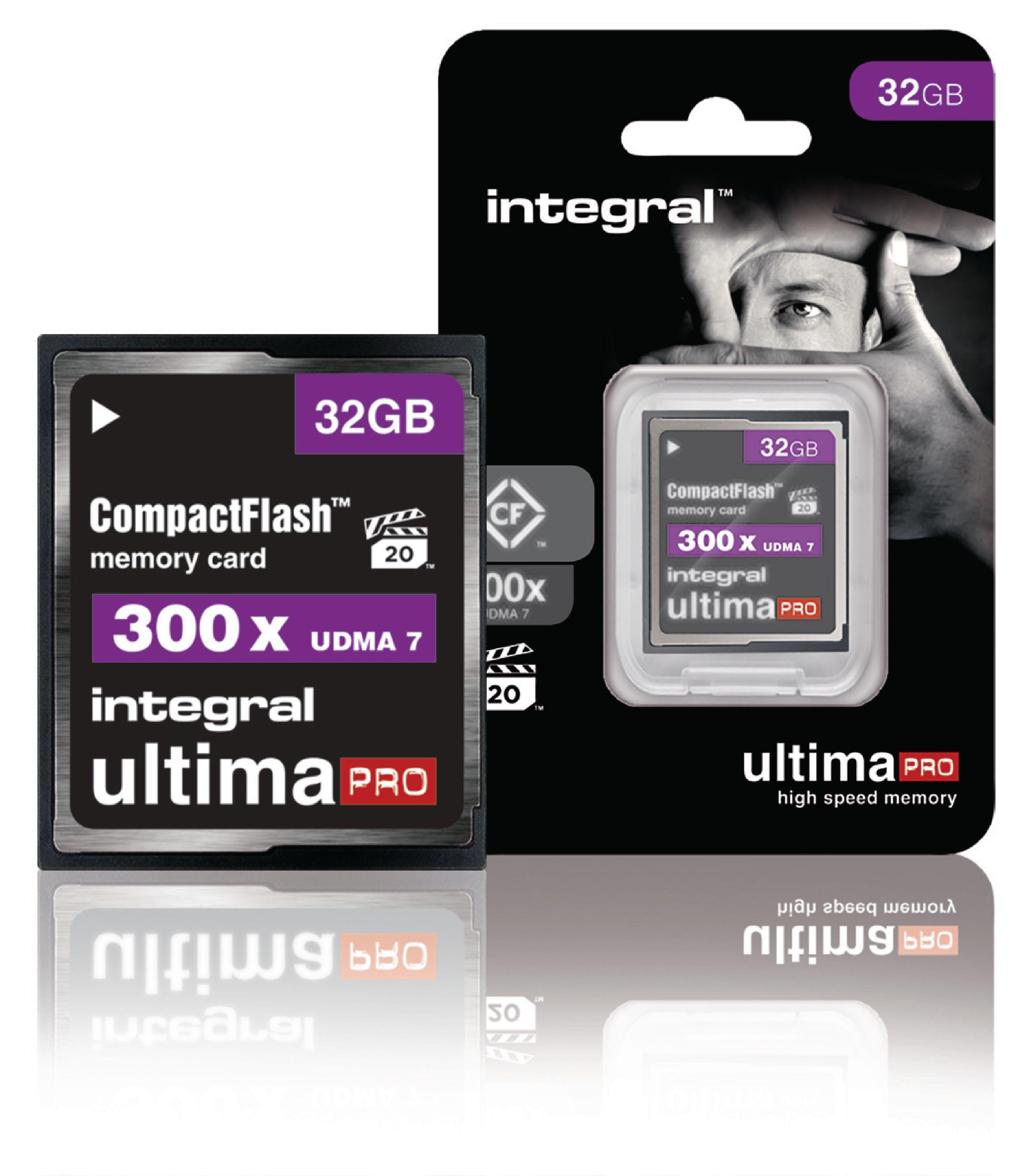 Paměťová karta Integral UltimaPro Compact Flash 32 GB 300x