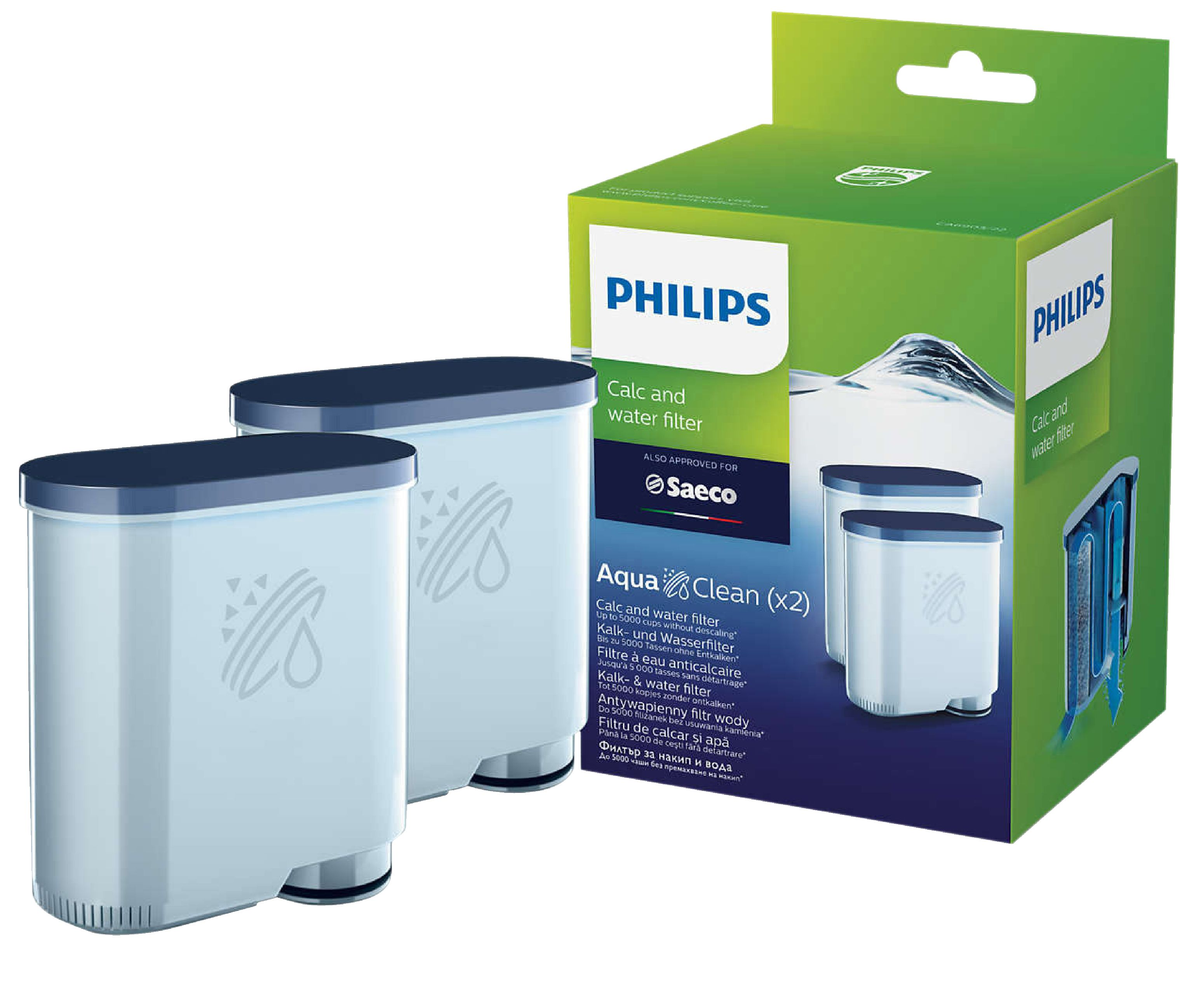 Vodní filtr Philips pro Saeco Espresso CA6903/10 AquaClean 2ks