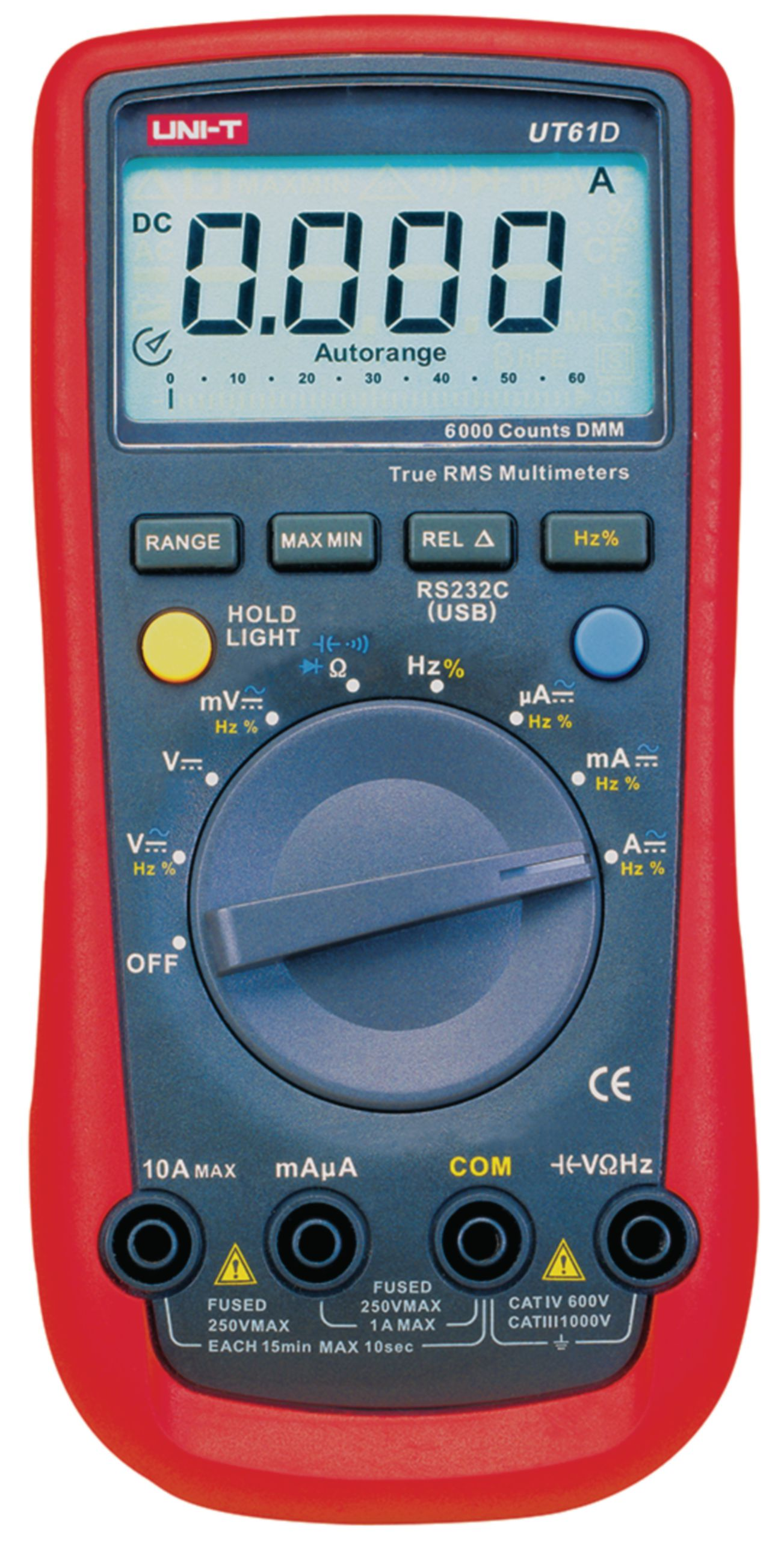 Digitální multimetr TrueRMS, UNI-T UT61D