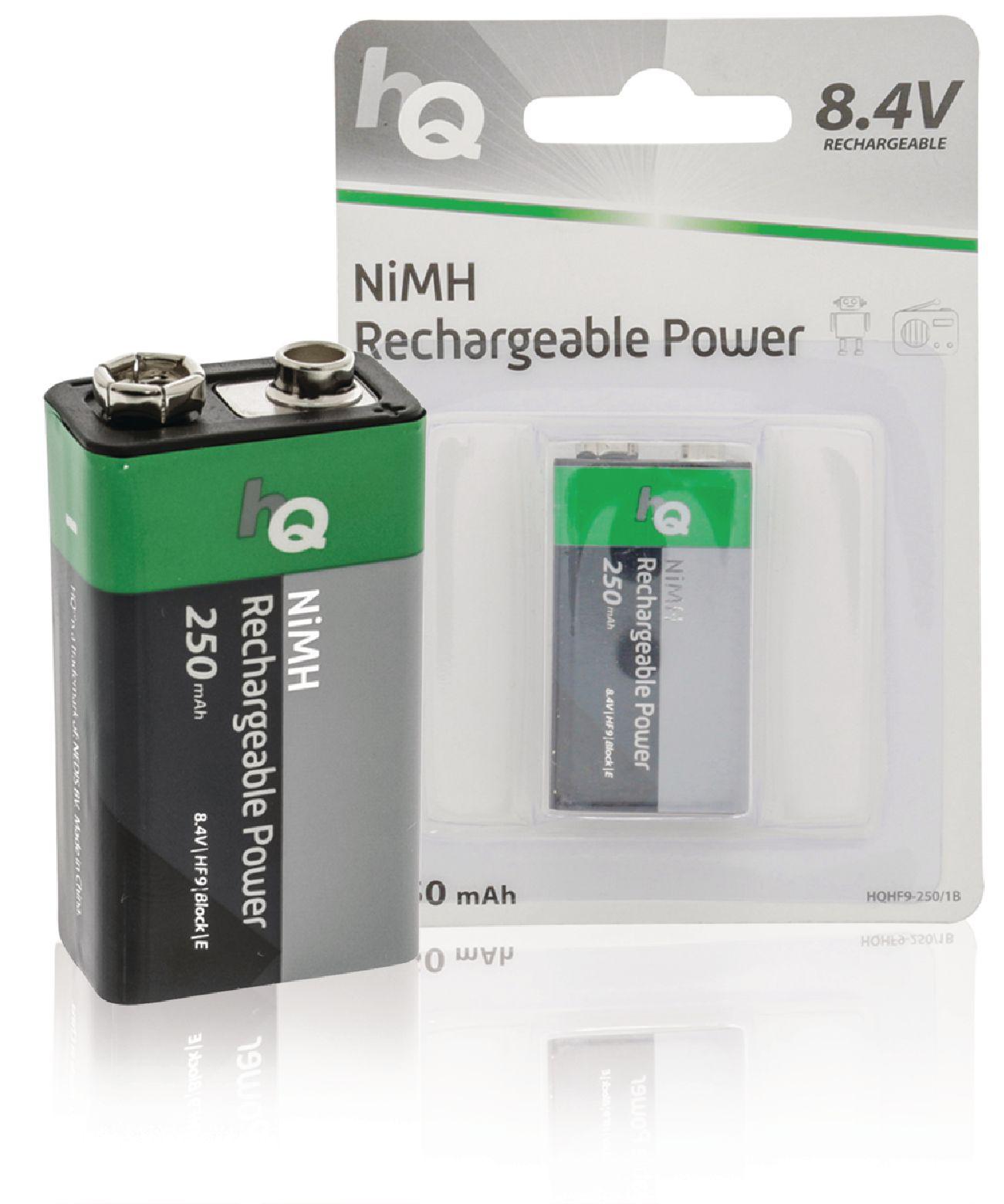 Nabíjecí baterie HQ NiMH E-Block 8.4 V 250 mAh 1ks, HQHF9-250/1B