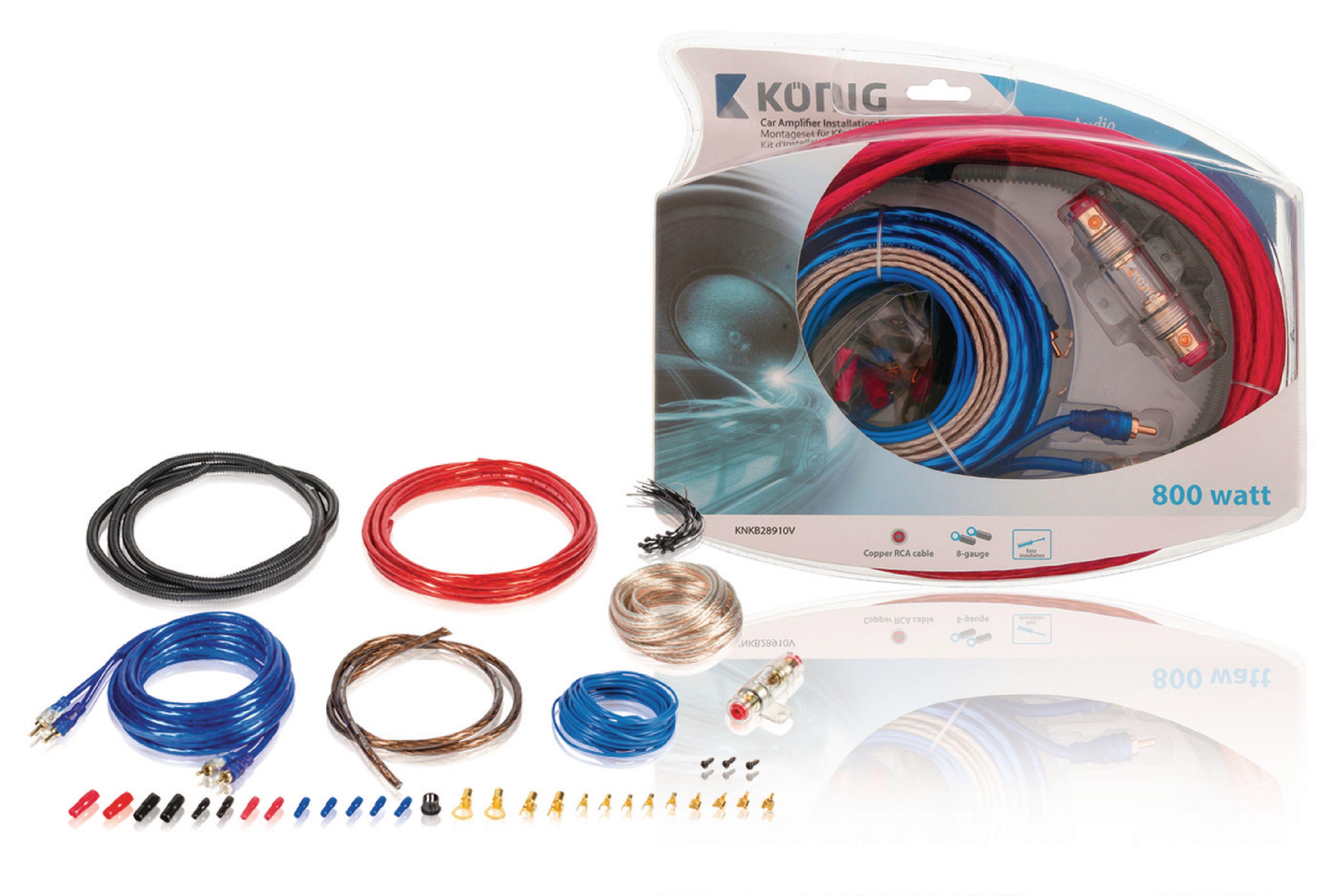 Propojovací audio sada do automobilu 800 W König KNKB28910V