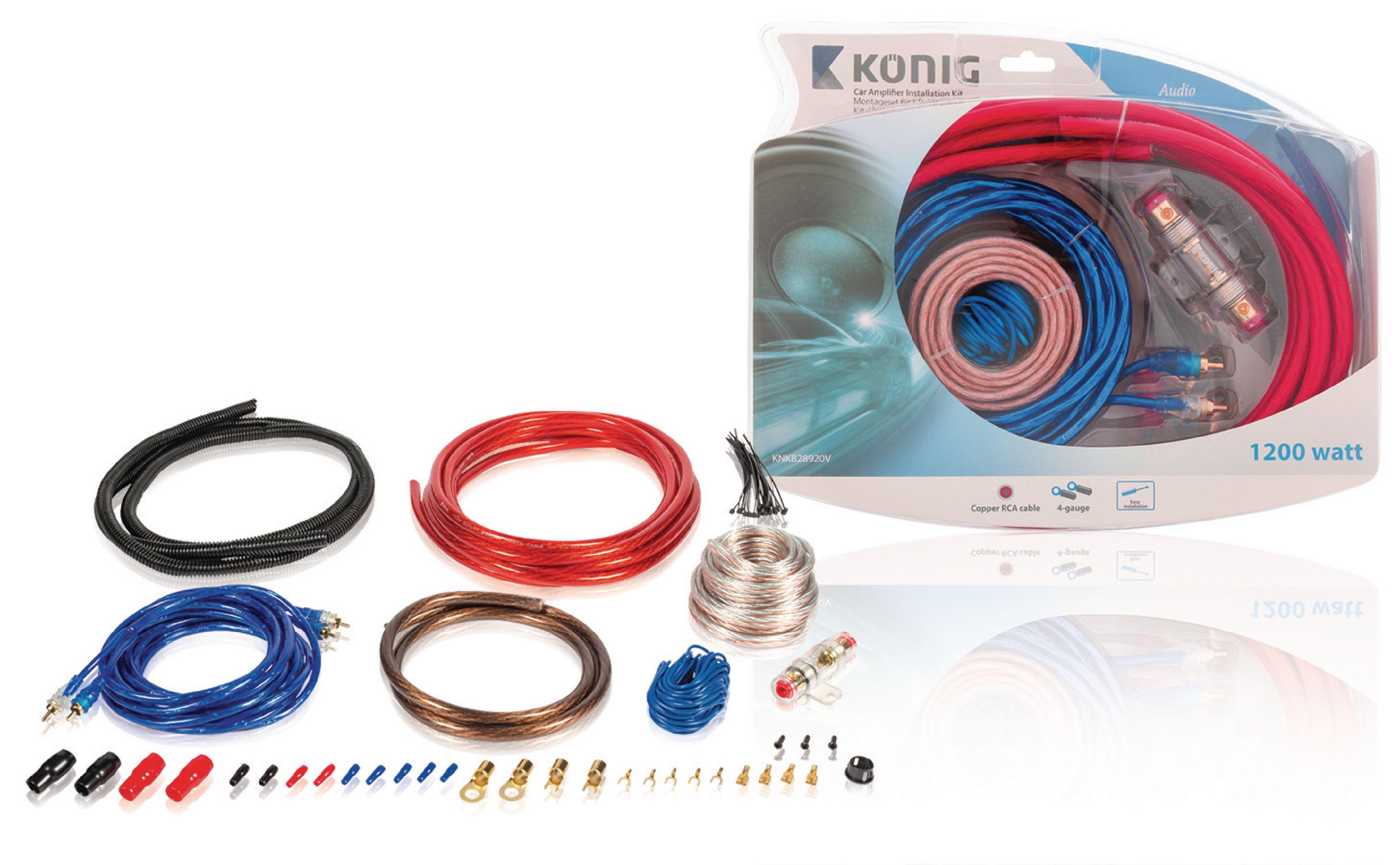 Propojovací audio sada do automobilu 1200 W König KNKB28920V