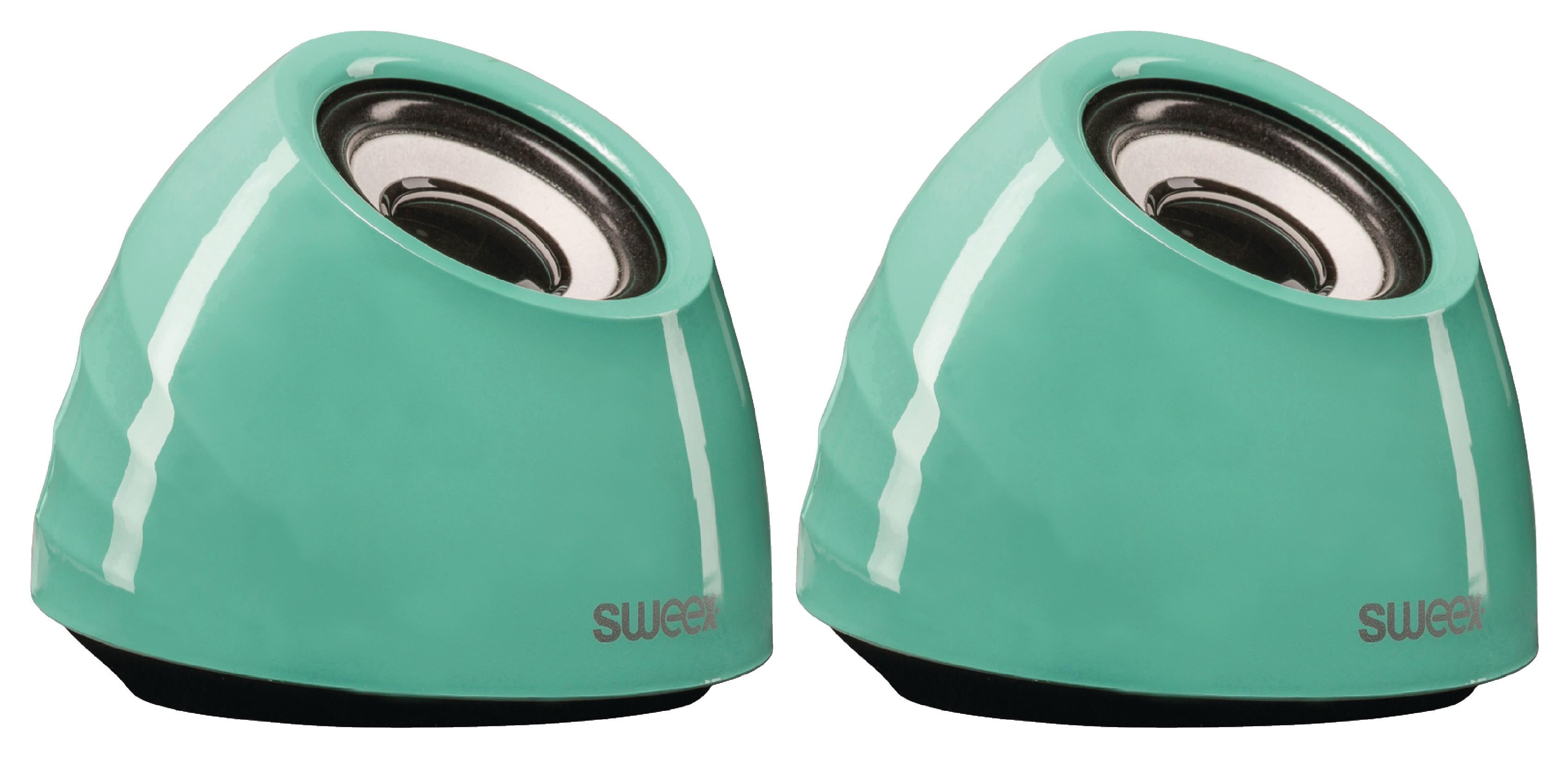 Stereo reproduktory 6W, USB, jack 3.5mm, zelené Sweex SW20SPS100GR