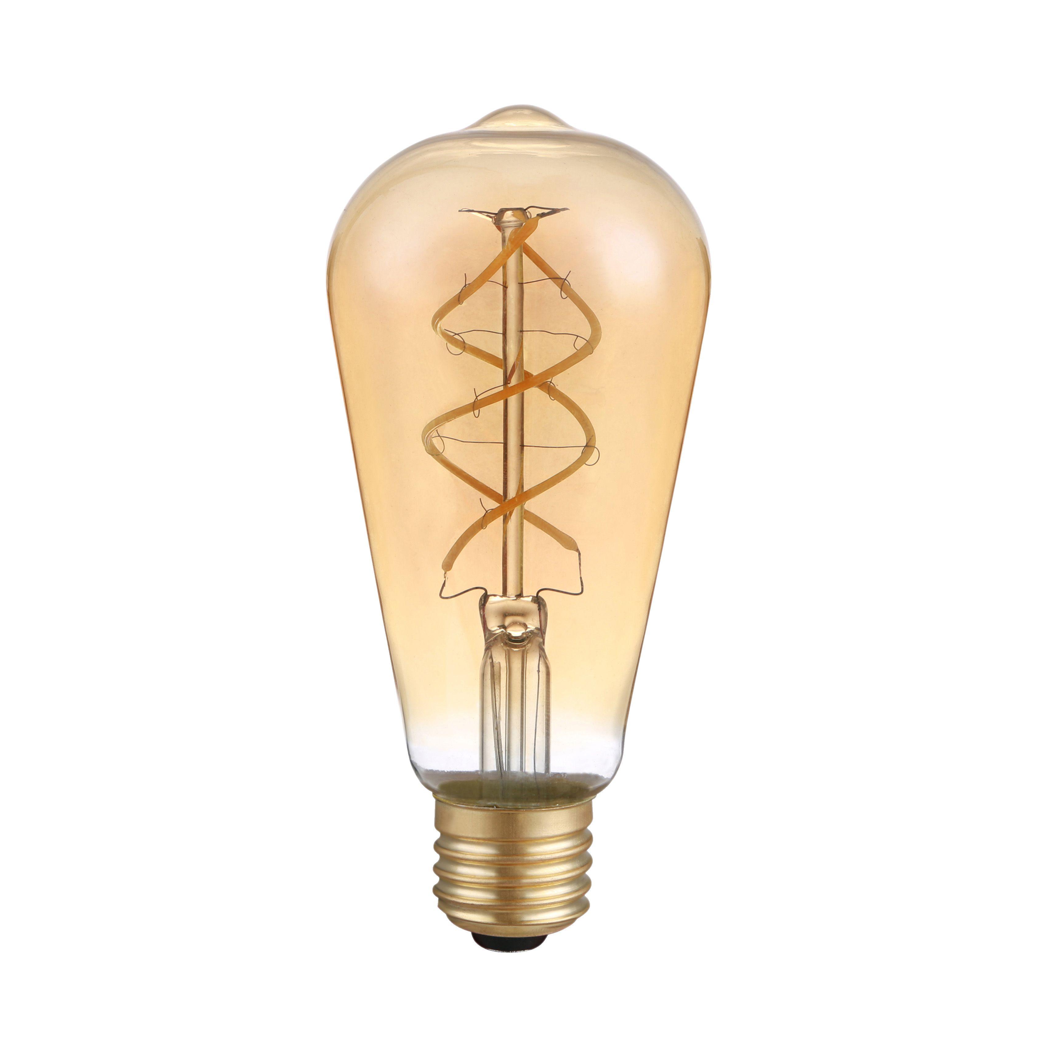 LED's Light LED žárovka vláknová E27 ST64 5W 230lm 2200K (LL600474)