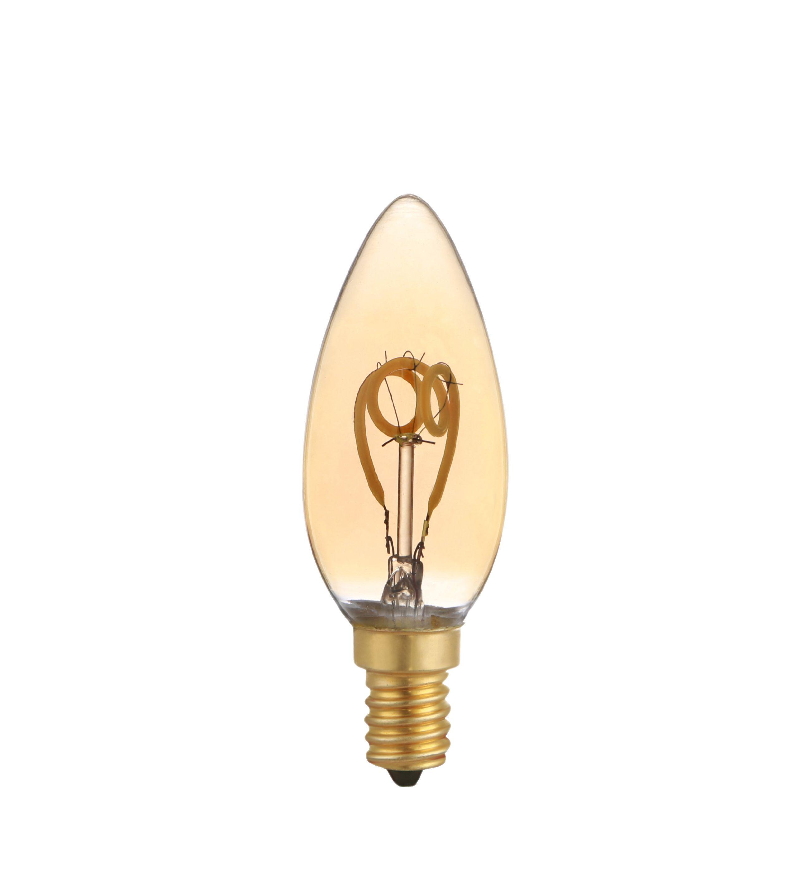 LED's Light LED žárovka vláknová svíčka E14 3W 100lm 2200K (LL600478)