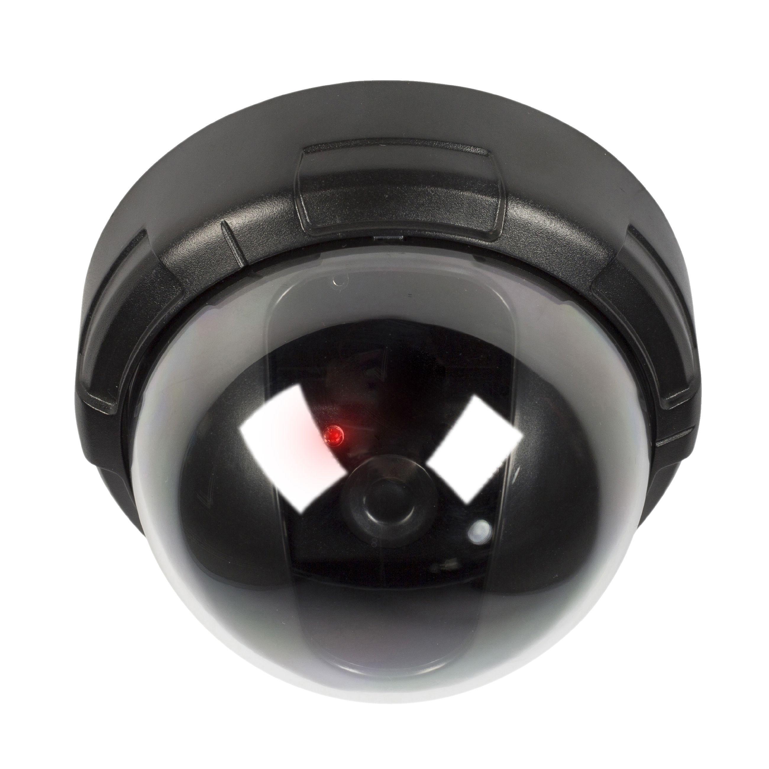 Atrapa interiérové bezpečnostní DOME kamery, černá König SAS-DUMMY010B