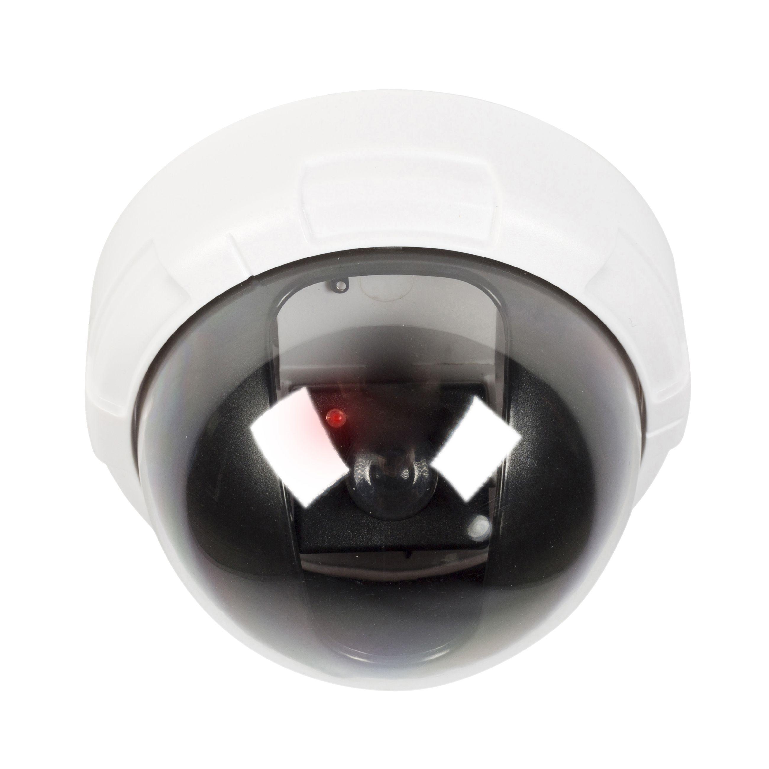 Atrapa interiérové bezpečnostní DOME kamery, bíláKönig SAS-DUMMY010W