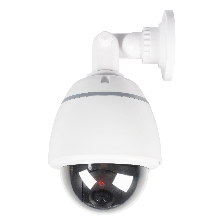 Atrapa kopulové venkovní bezpečnostní kamery, bílá König SAS-DUMMY210W