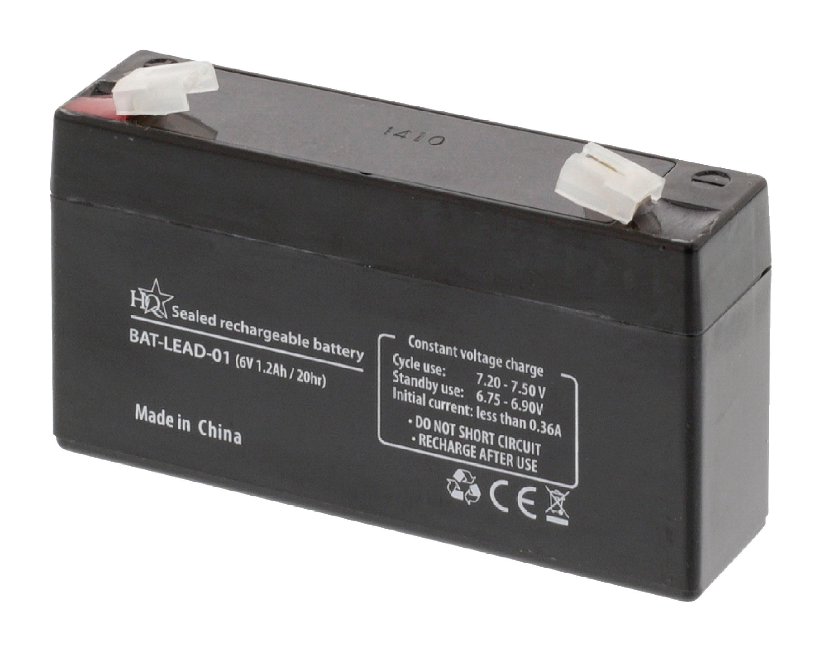Dobíjecí Olověná Baterie 6 V 1200 mAh 97 mm x 24 mm x 52 mm