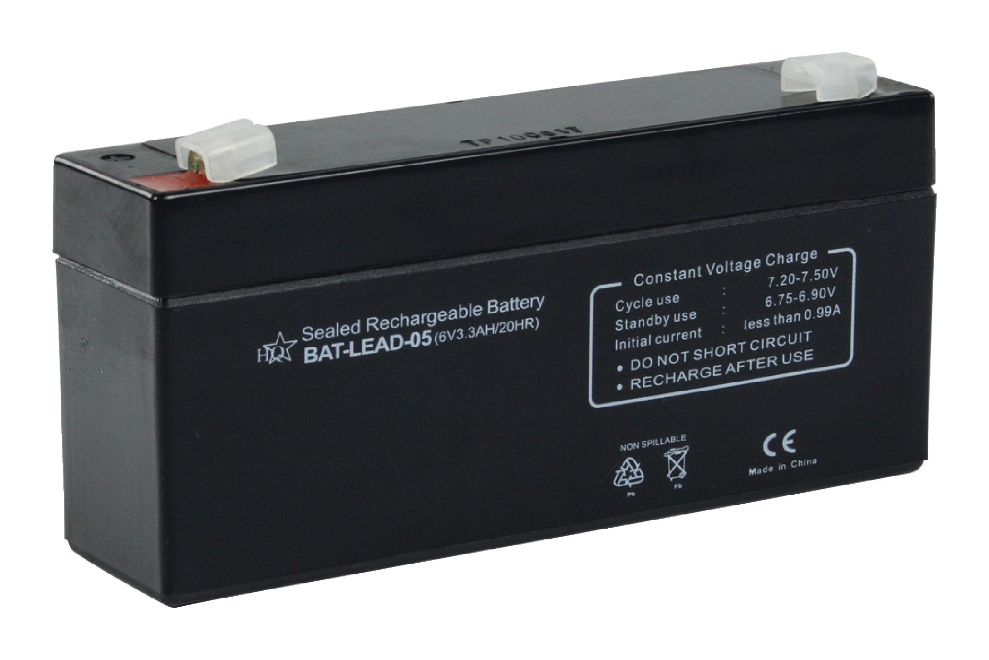 Dobíjecí Olověná Baterie 6 V 3200 mAh 134 mm x 35 mm x 61 mm