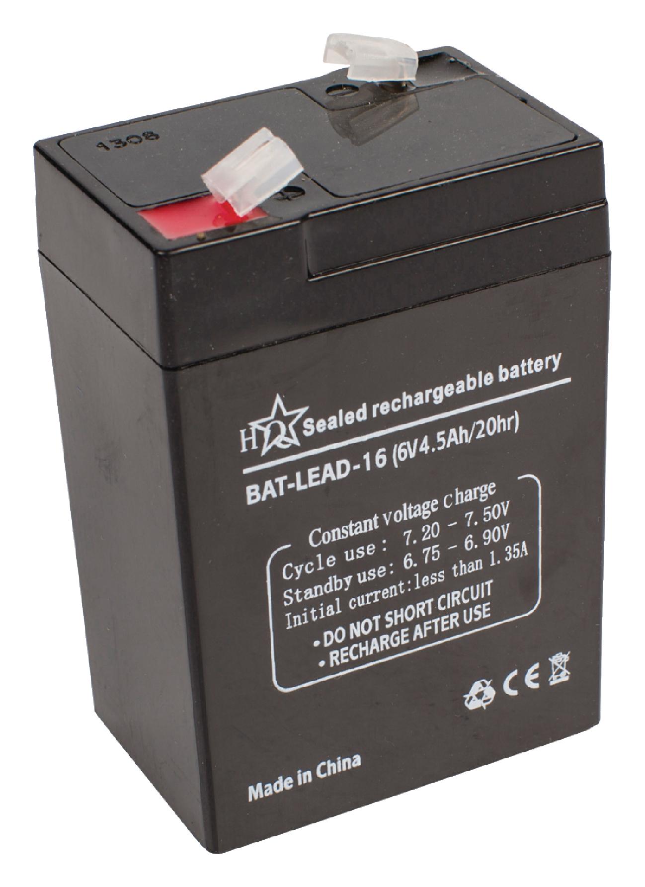 Dobíjecí Olověná Baterie 6 V 4500 mAh 70 mm x 47 mm x 101 mm