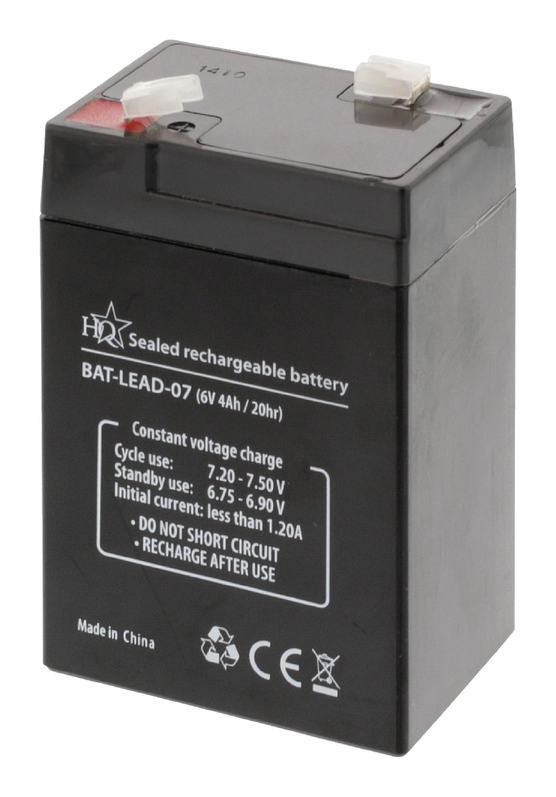 HQ olověná baterie 6V, 4Ah, 70 x 47 x 101 mm (BAT-LEAD-07)