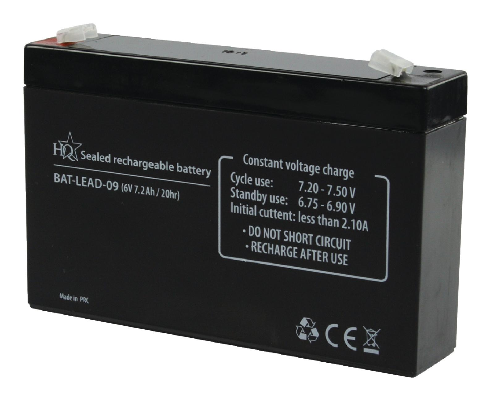 Dobíjecí Olověná Baterie 6 V 7200 mAh 151 mm x 34 mm x 95 mm