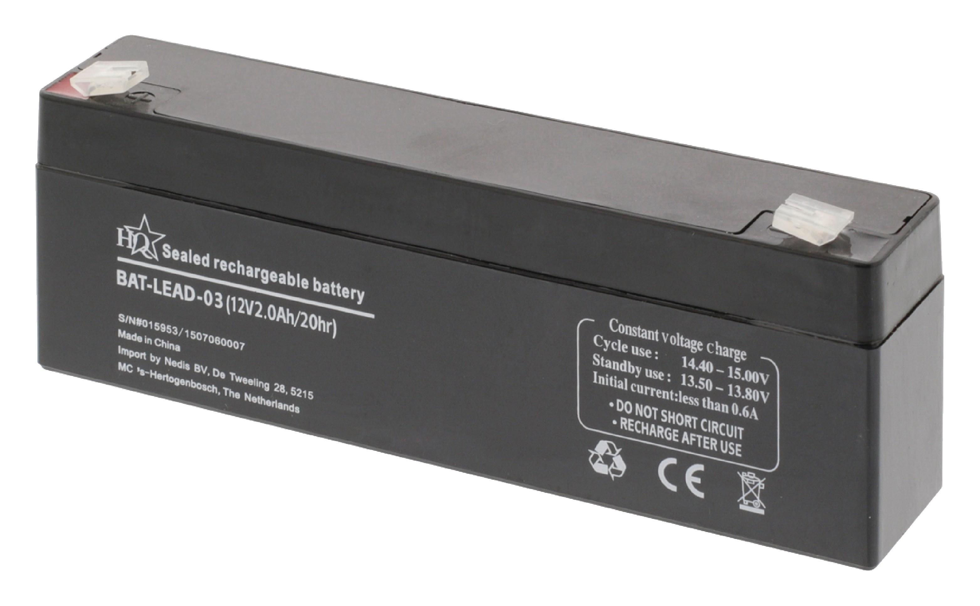Dobíjecí Olověná Baterie 12 V 2000 mAh 178 mm x 34 mm x 66 mm