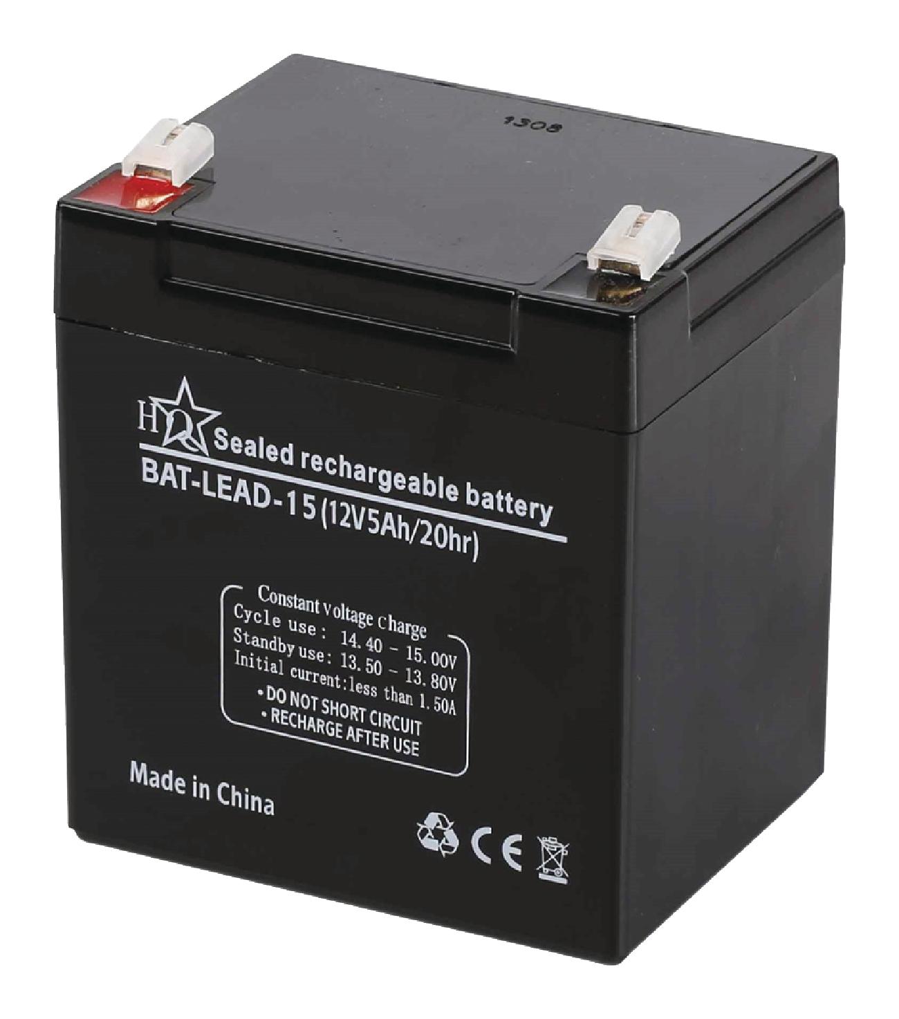 Dobíjecí Olověná Baterie 12 V 5000 mAh 90 mm x 70 mm x 101 mm