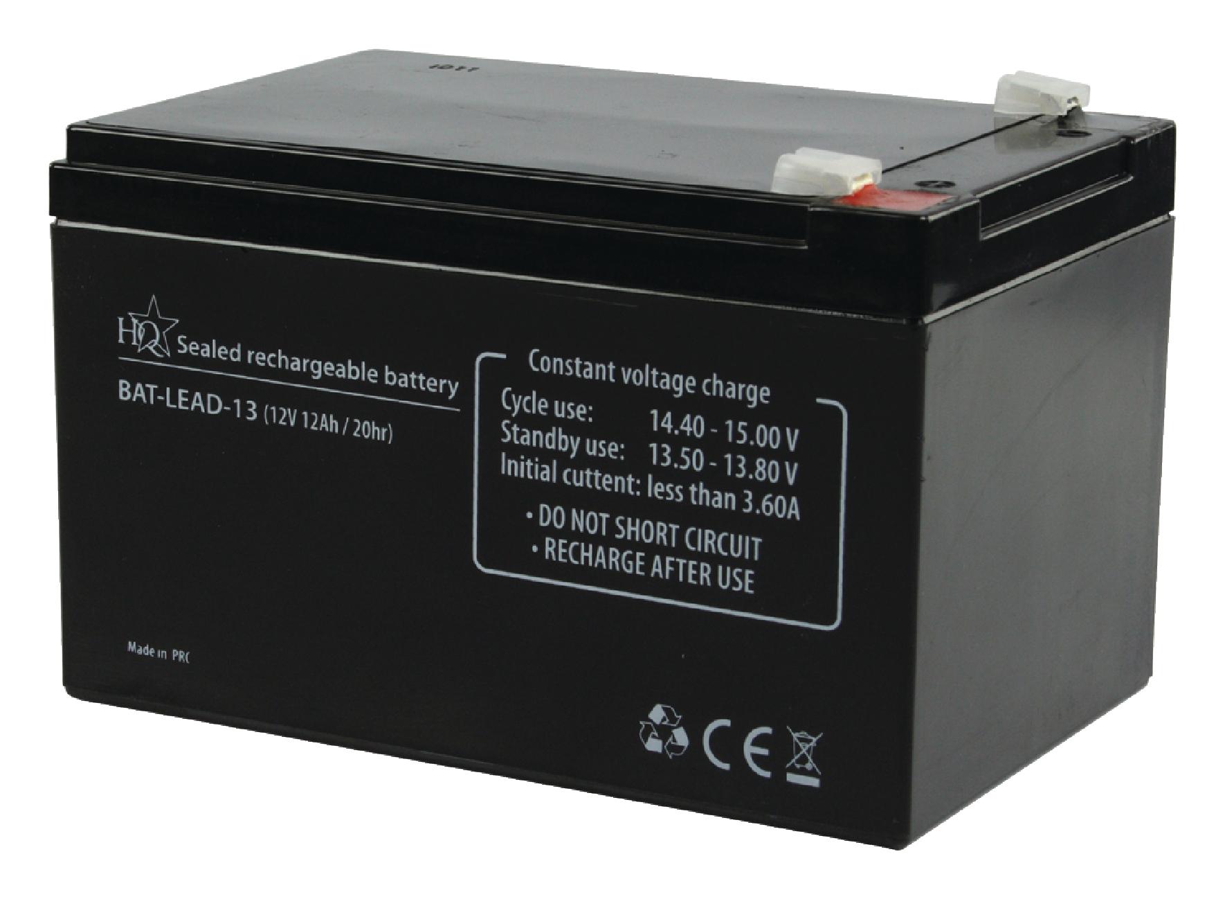 HQ olověná baterie 12V, 12Ah, 151 x 98 x 95 mm (BAT-LEAD-13)