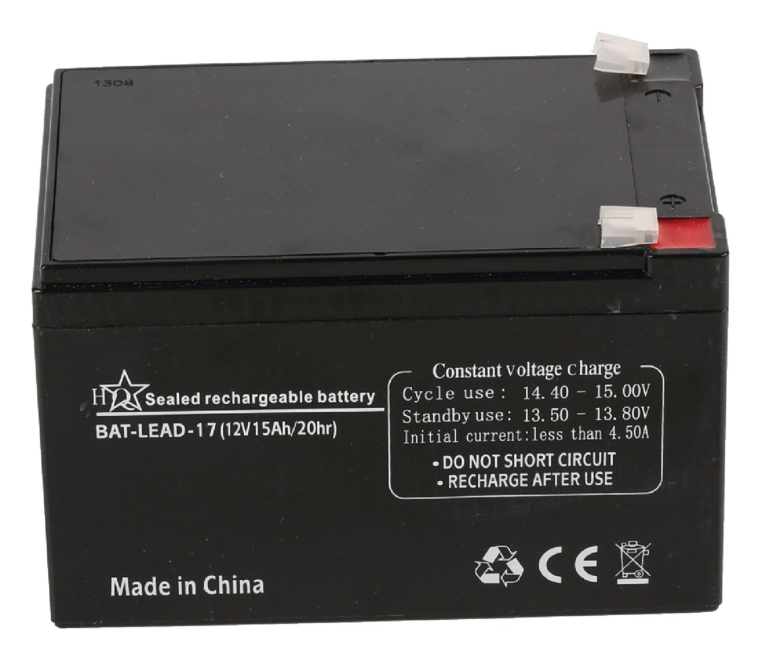Dobíjecí Olověná Baterie 12 V 15000 mAh 151 mm x 98 mm x 95 mm