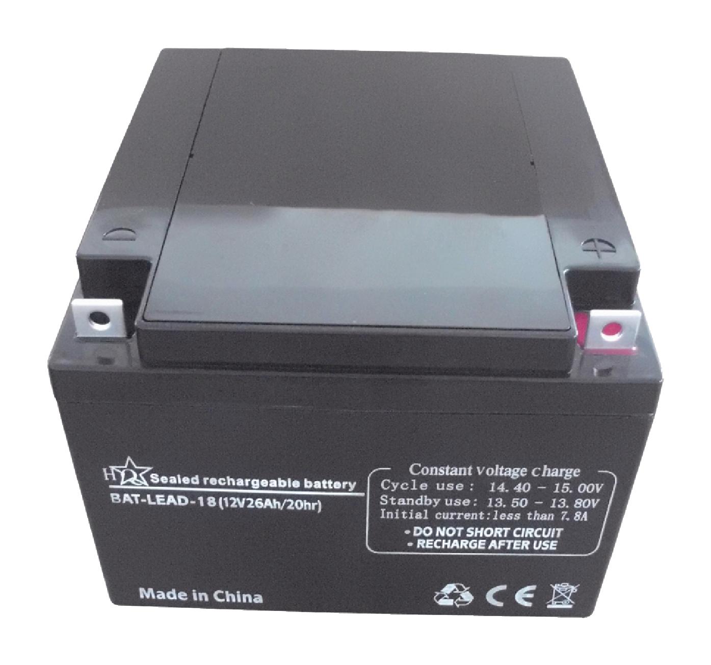 Dobíjecí Olověná Baterie 12 V 26000 mAh 167 mm x 177 mm x 126 mm