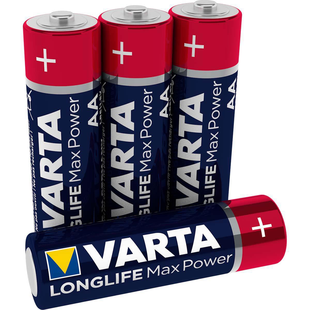 Alkalická baterie VARTA Max Tech AA 1.5V, 4ks, VARTA-4706/4B