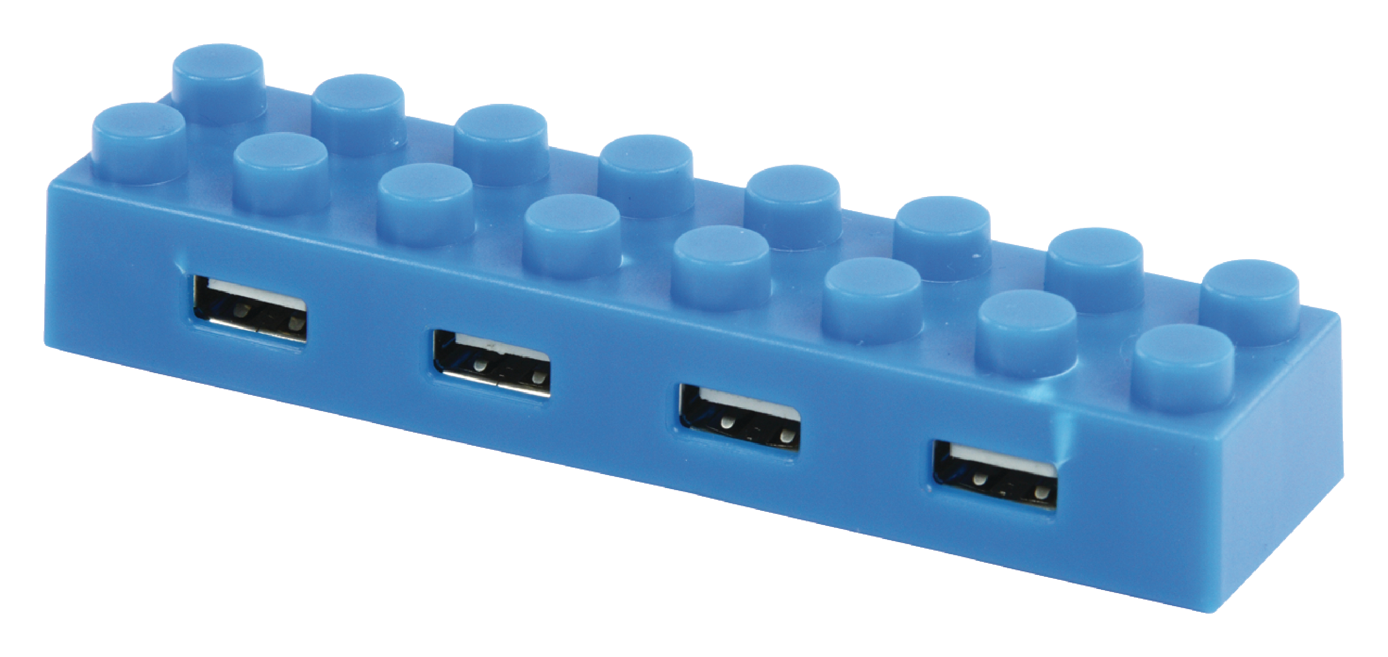 basicXL externí čtyřportový USB 2.0 HUB modrý BXL-USB2HUB5BU