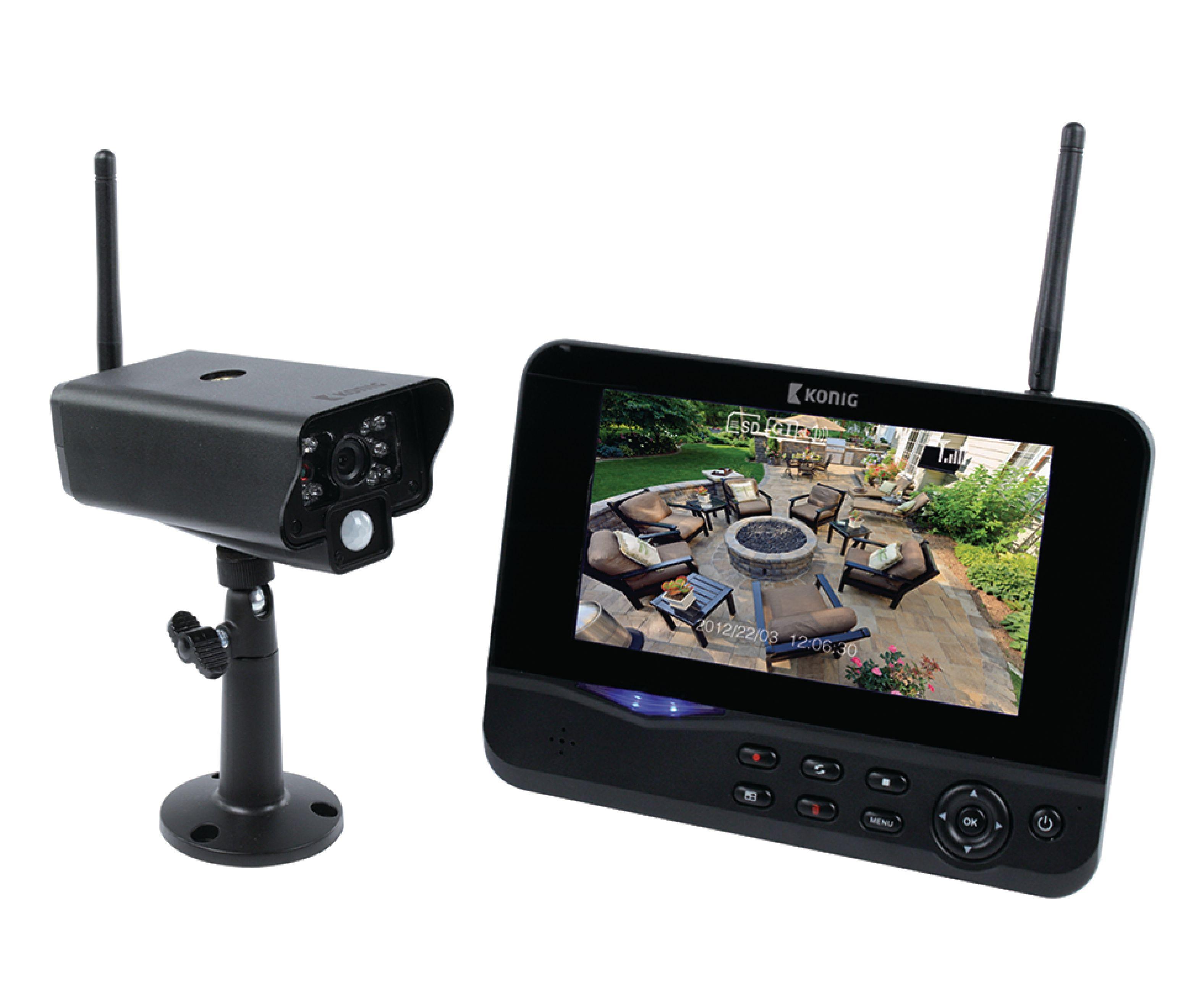 """Digitální bezdrátový 2.4 Ghz systém kamera + 7"""" LCD monitor"""