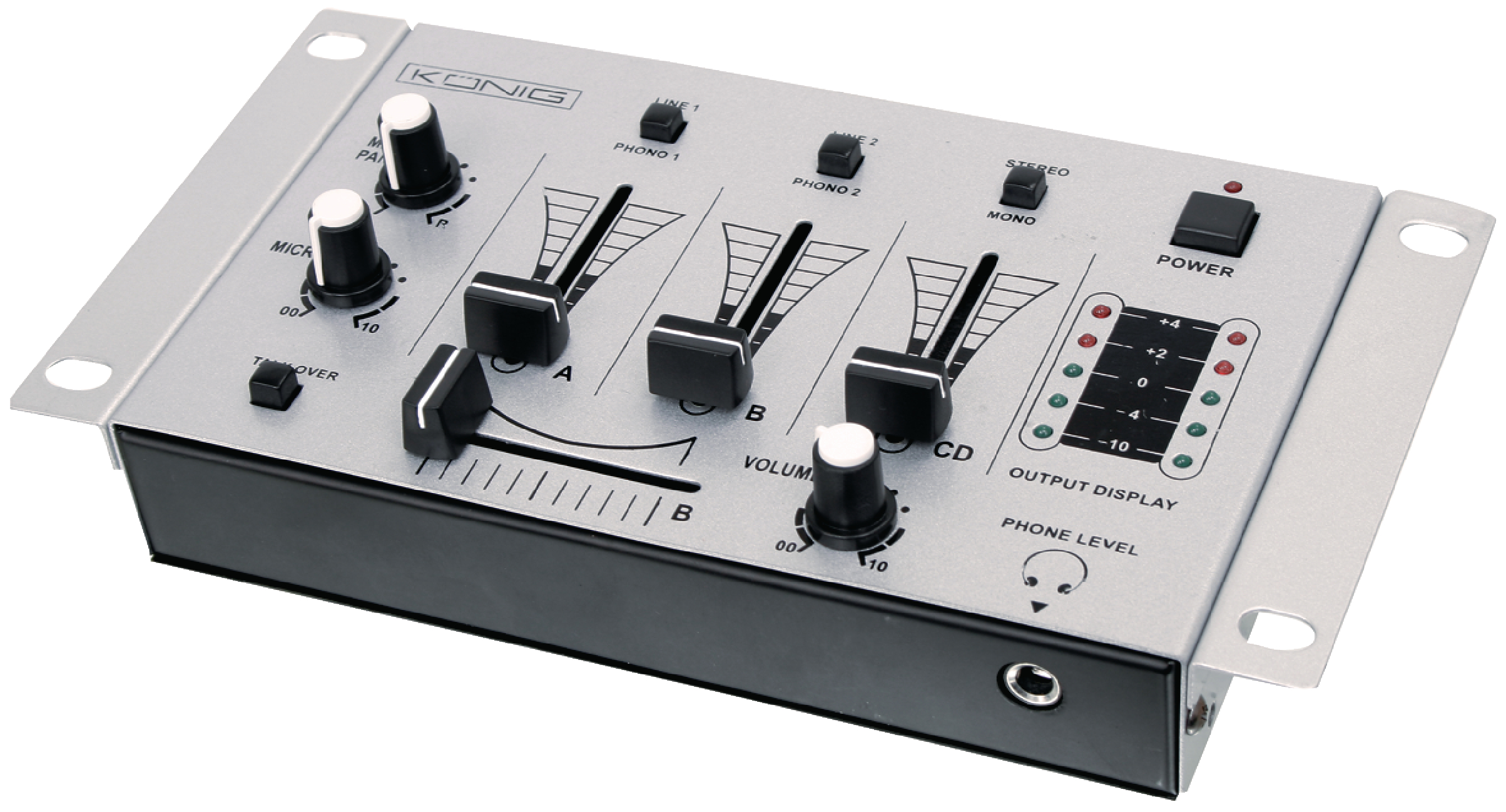 Dj mixážní 3 kanálový pult König KN-DJMIXER10