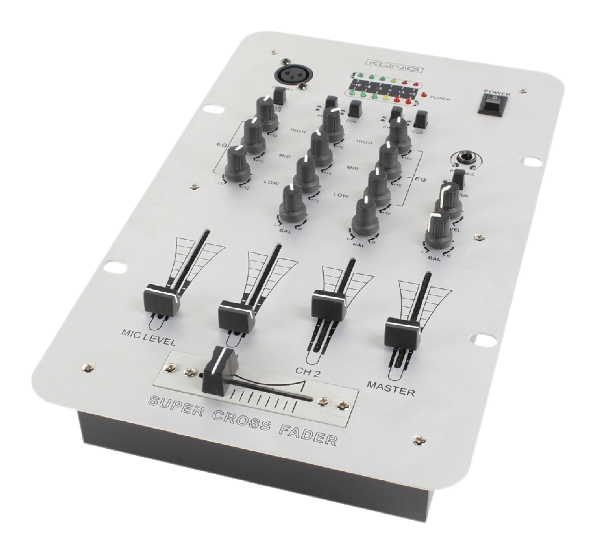 Dj mixážní 2 kanálový pult König KN-DJMIXER20