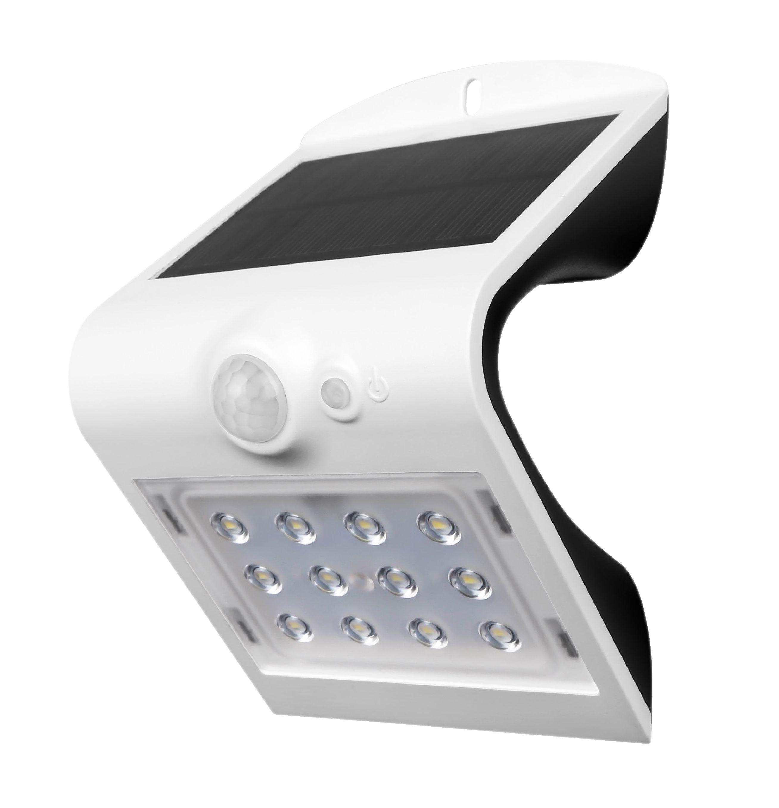 Venkovní LED solární nástěnné svítidlo 220 lm s PIR čidlem LED's Light LL300403