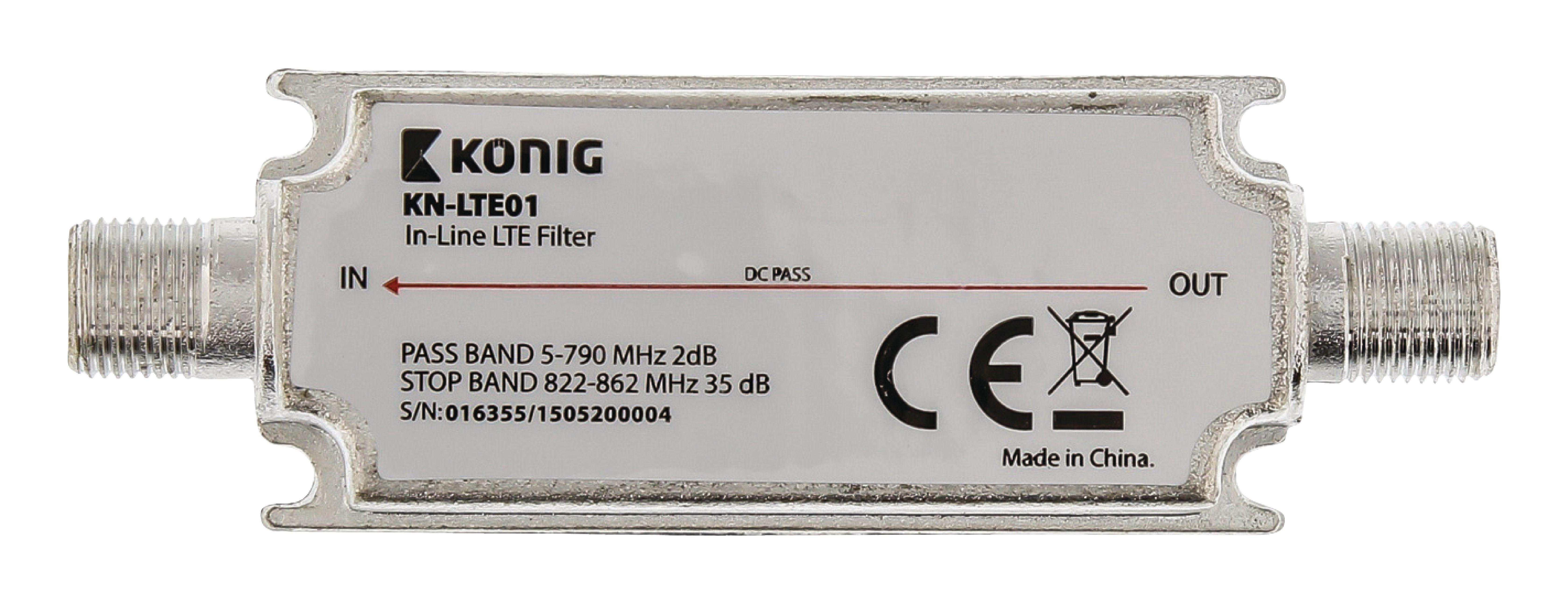 DVB-T/T2 LTE Filtr 822-862 MHz