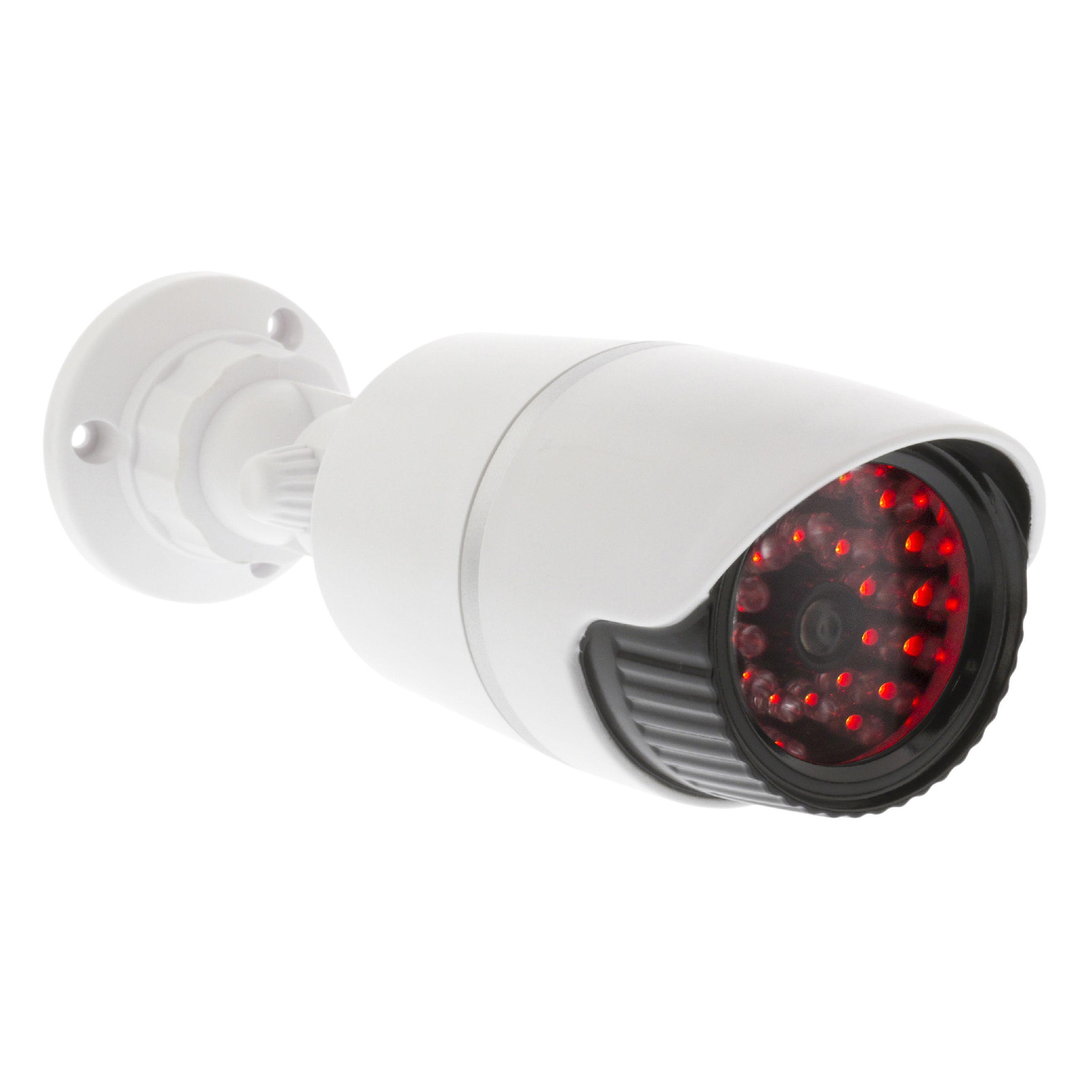 Atrapa venkovní bezpečnostní kamery s IR LED, bílá König SAS-DUMMY120W