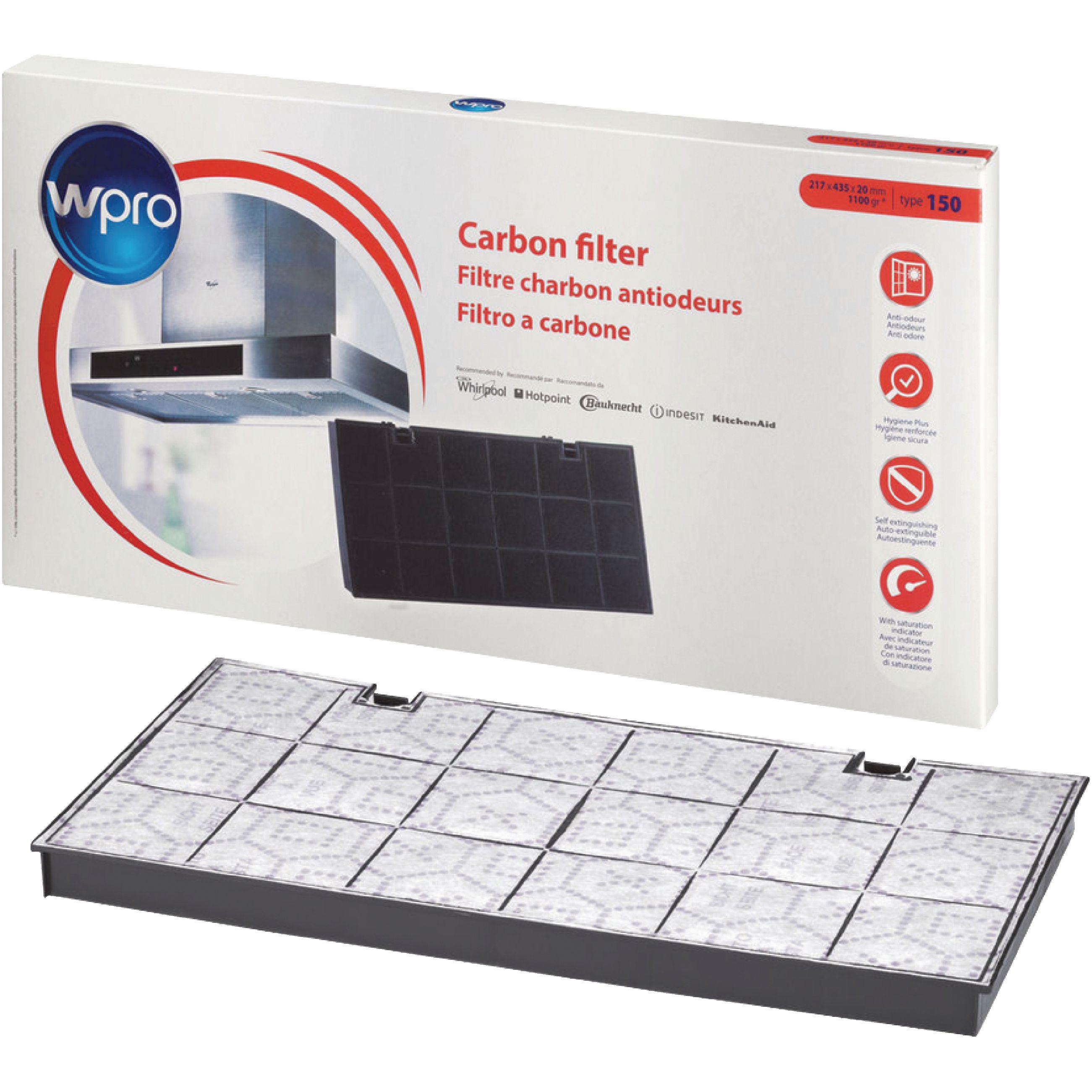 Uhlíkový filtr do digestoře Wpro typ 150, 484000008580